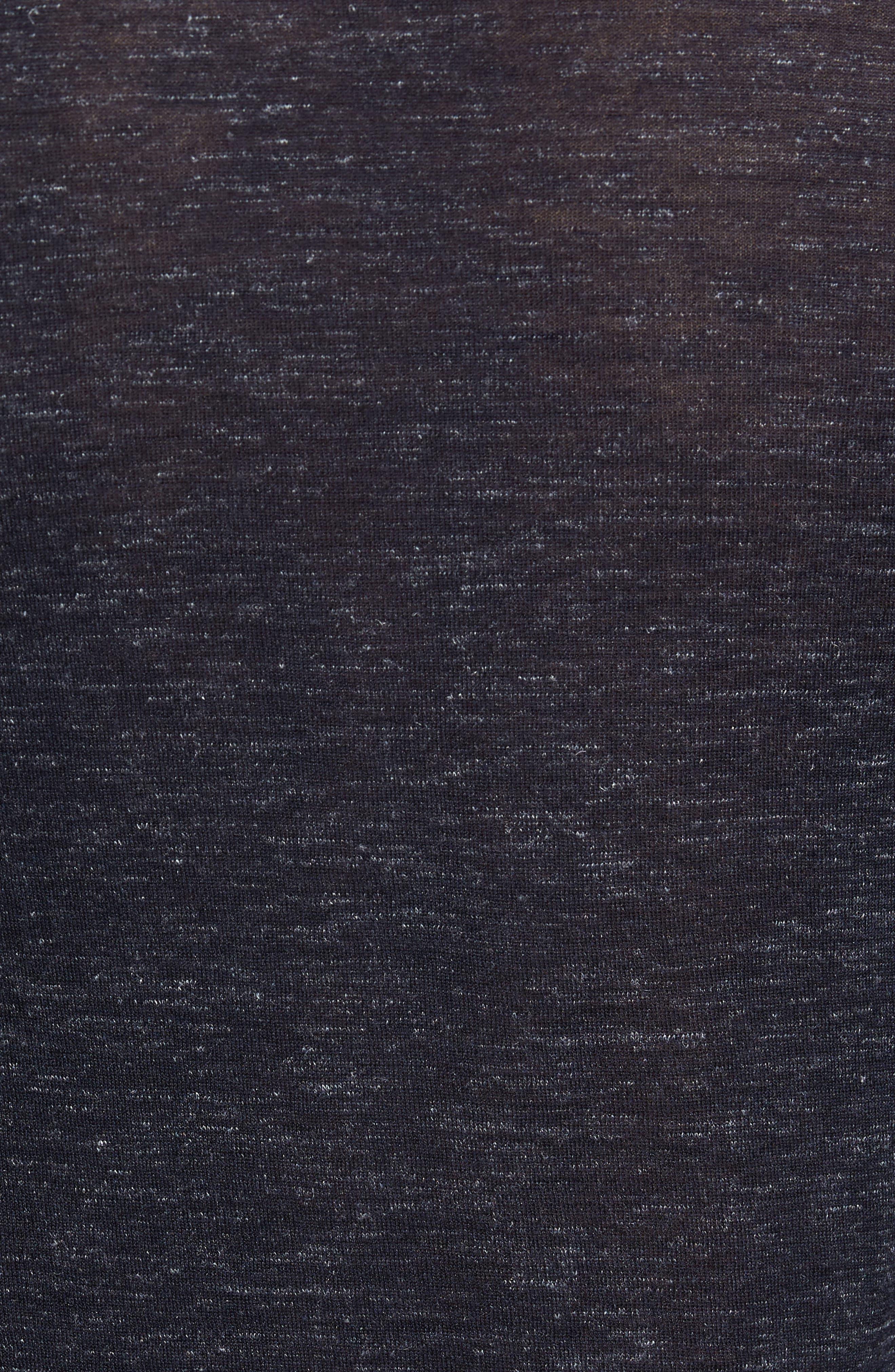 Summertime Crewneck Cotton & Silk Sweater,                             Alternate thumbnail 5, color,                             Barchetta