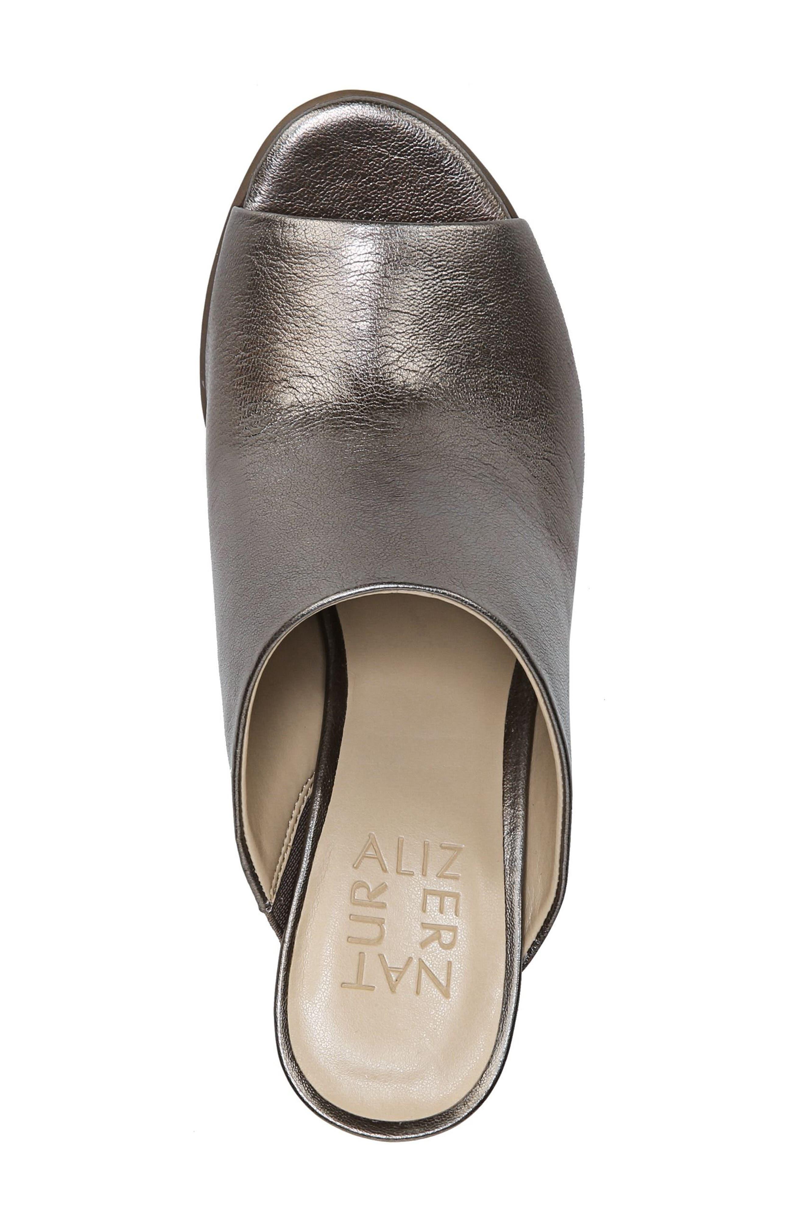 Sloan Sandal,                             Alternate thumbnail 5, color,                             Gunmetal Leather