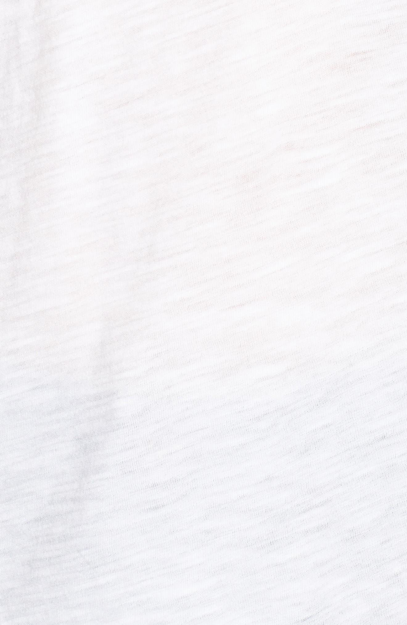 Whisper Cotton V-Neck Pocket Tee,                             Alternate thumbnail 3, color,                             Optic White