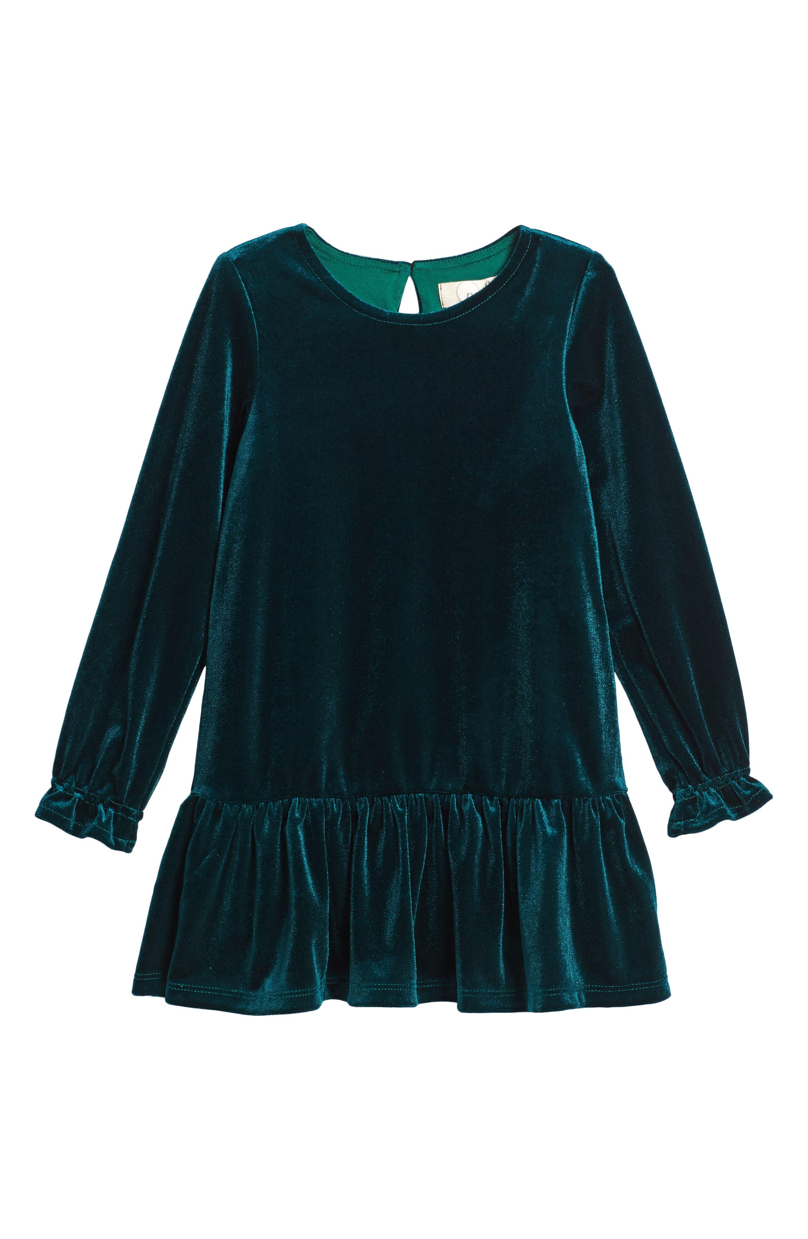 Angelina Velvet Dress,                             Main thumbnail 1, color,                             Green