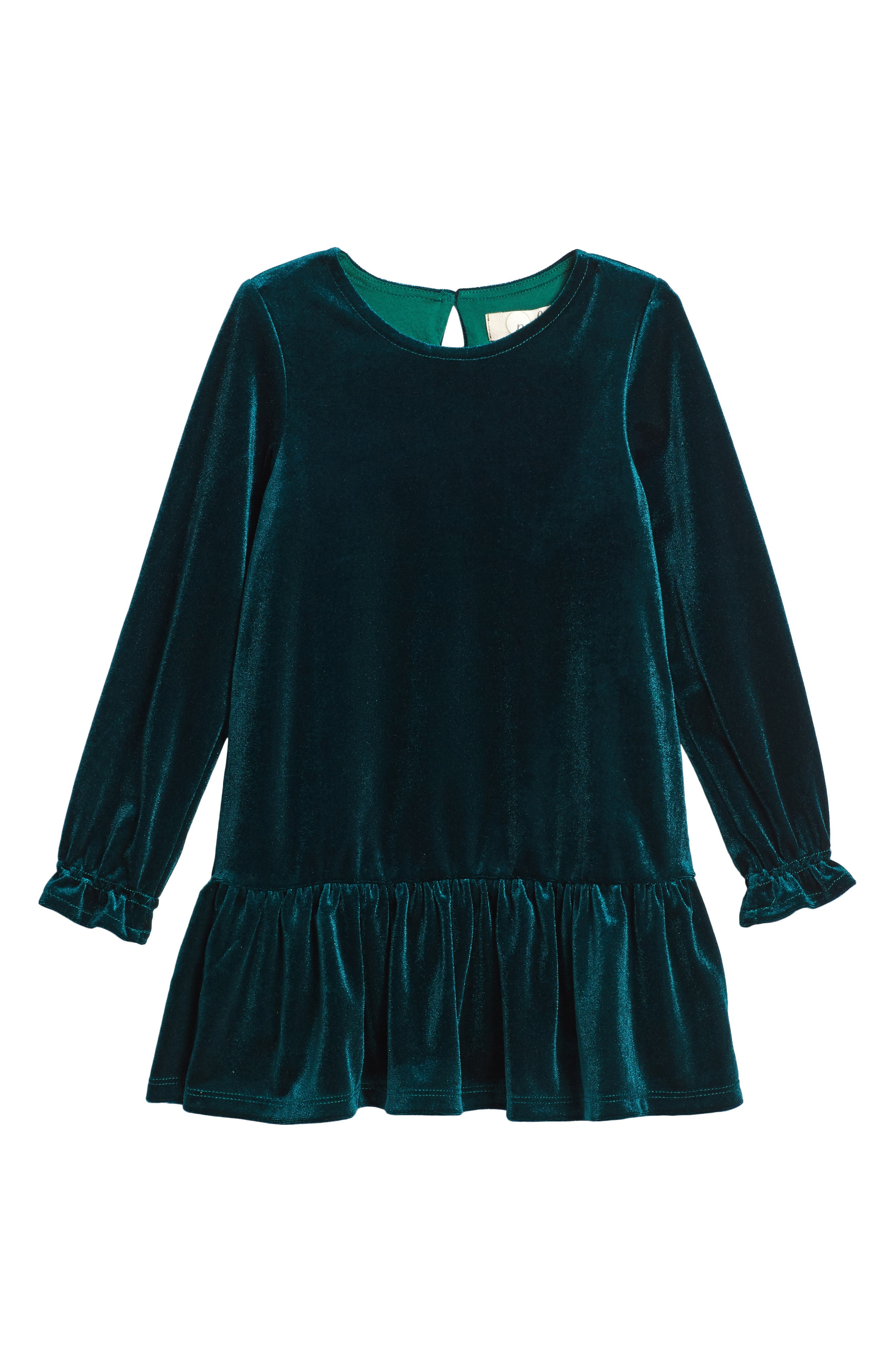 Angelina Velvet Dress,                         Main,                         color, Green