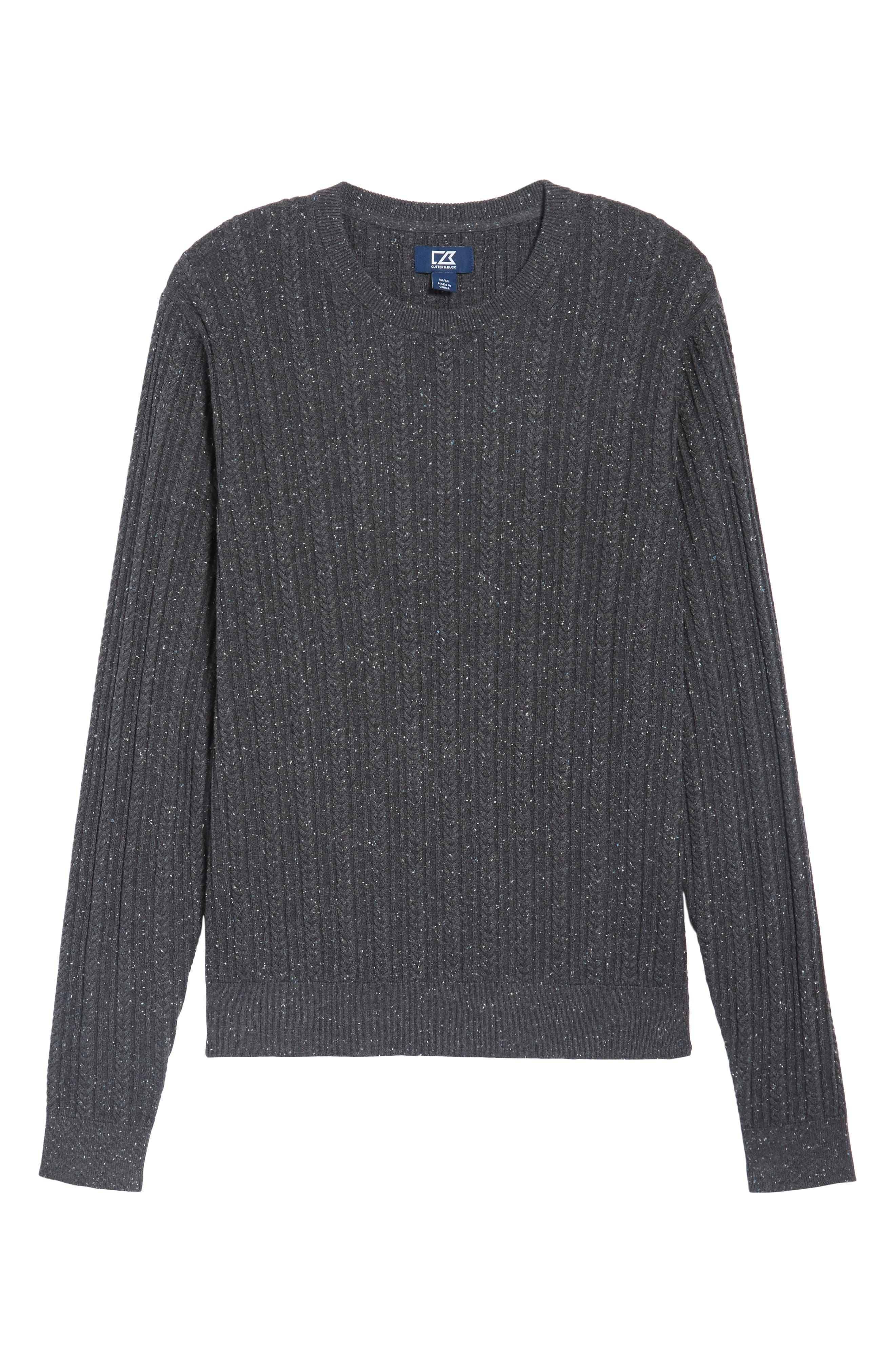 Carlton Crewneck Sweater,                             Alternate thumbnail 6, color,                             Charcoal