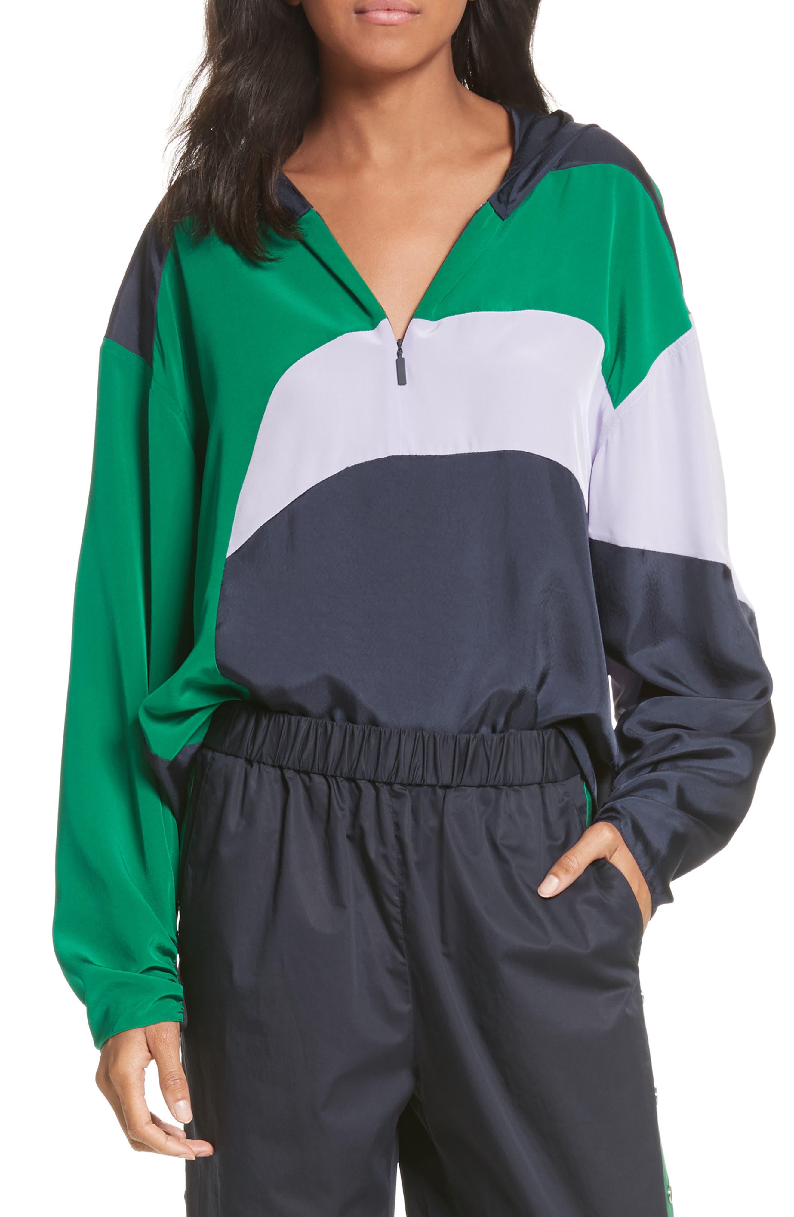 Hooded Jacket,                             Main thumbnail 1, color,                             Navy Multi