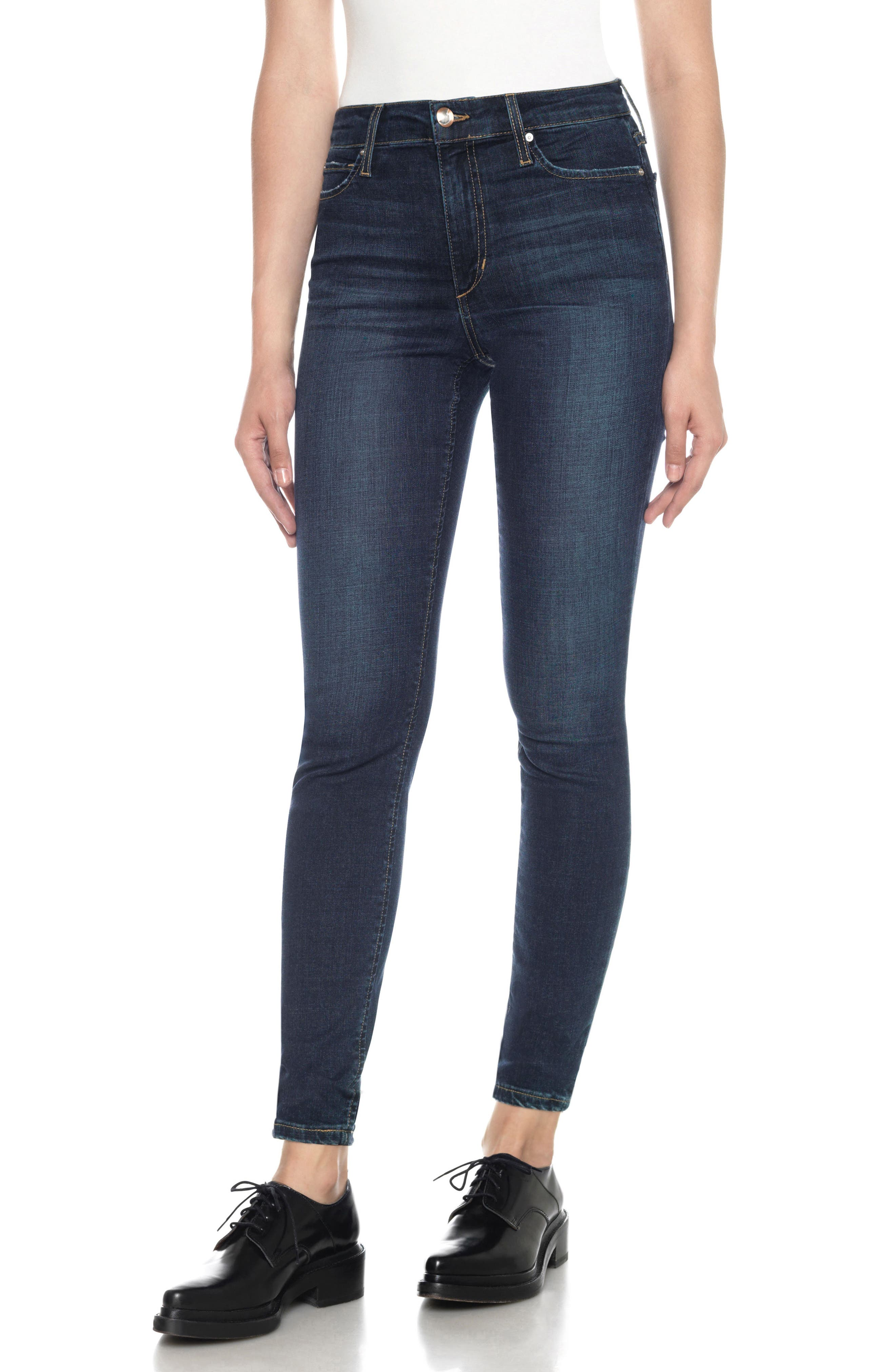 Flawless - Charlie High Rise Ankle Skinny Jeans,                             Main thumbnail 1, color,                             Tania