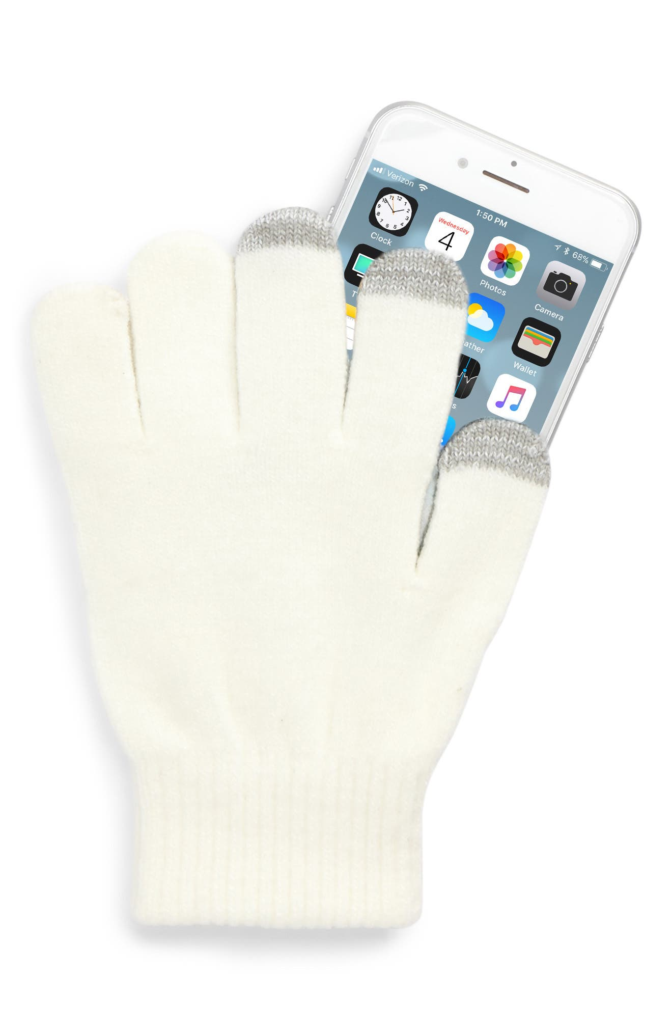 Bunny Convertible Gloves,                             Alternate thumbnail 4, color,                             Ivory