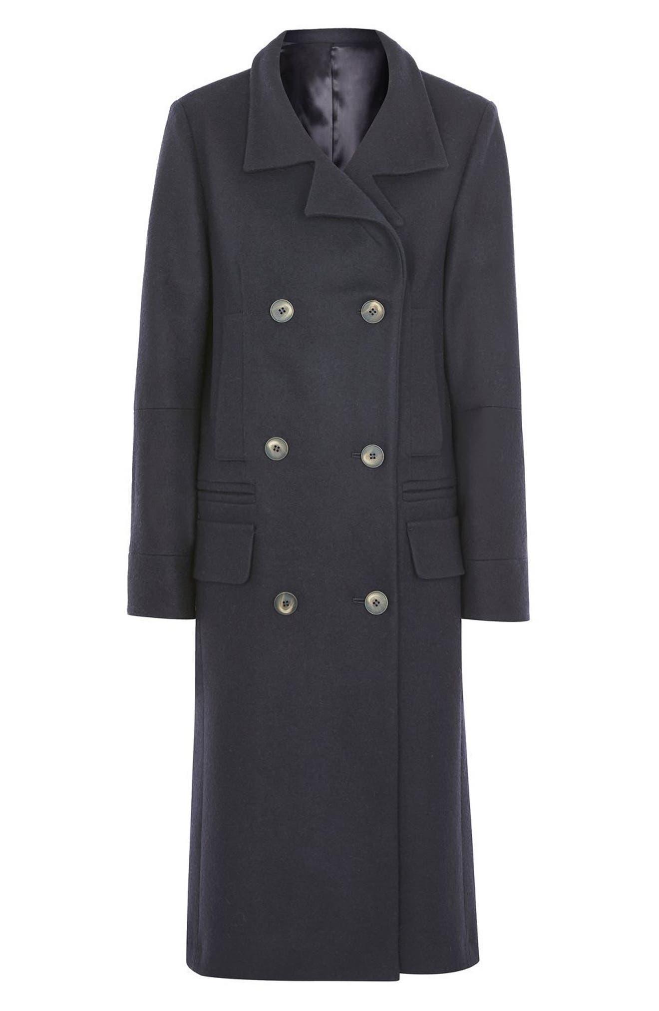 Topshop Unique Double Breasted Coat