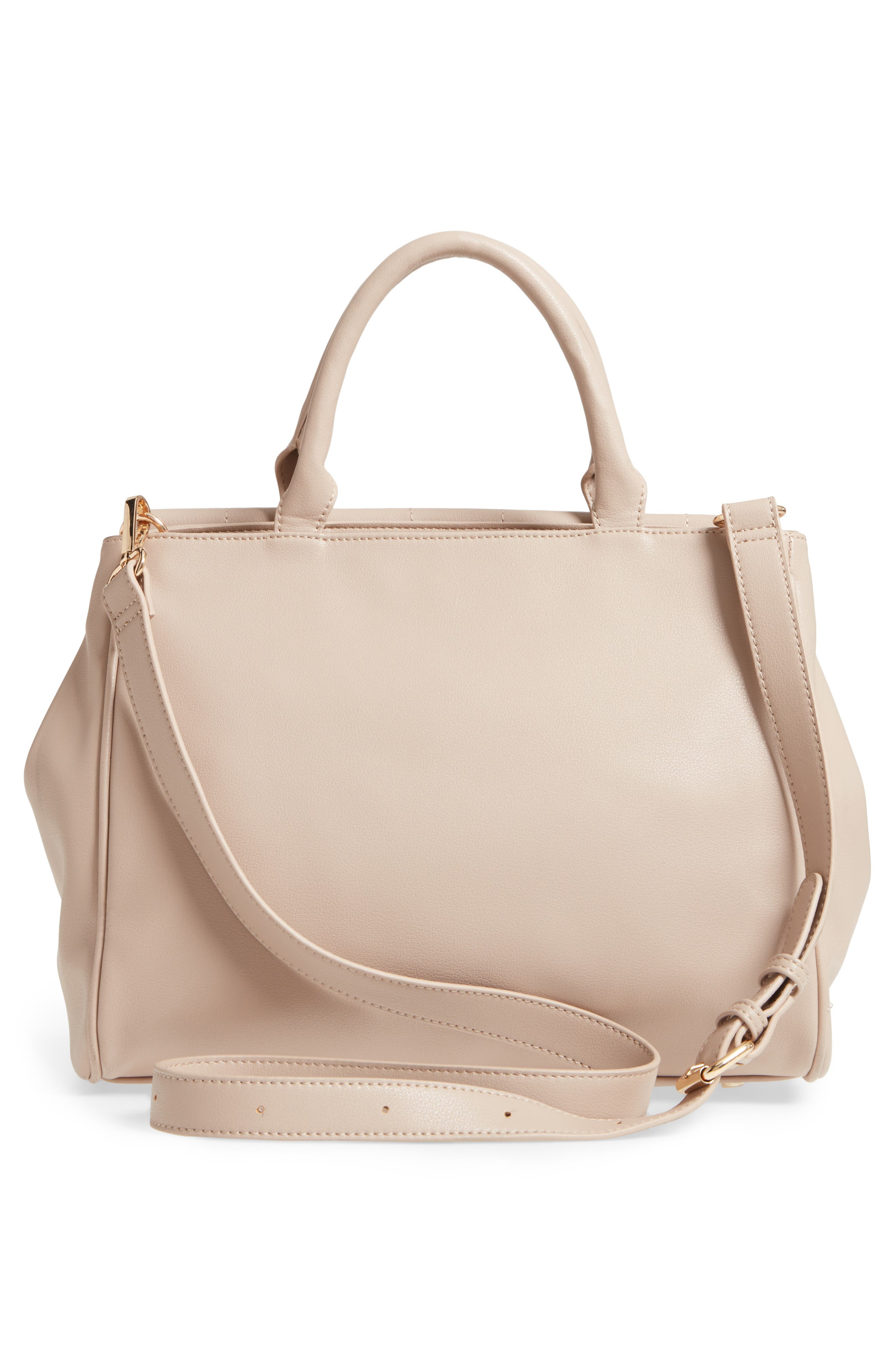 Alternate Image 3  - Sole Society Tracy Quilted Faux Leather Satchel