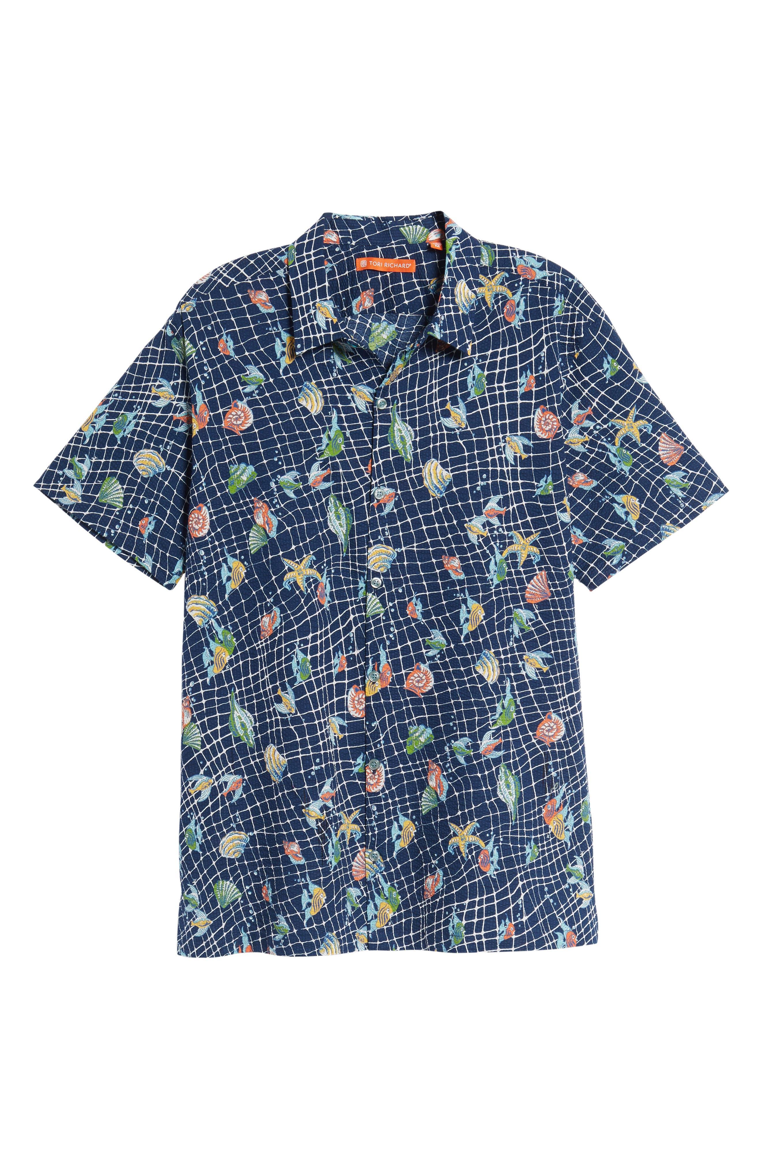 Alternate Image 6  - Tori Richard Catch All Print Sport Shirt