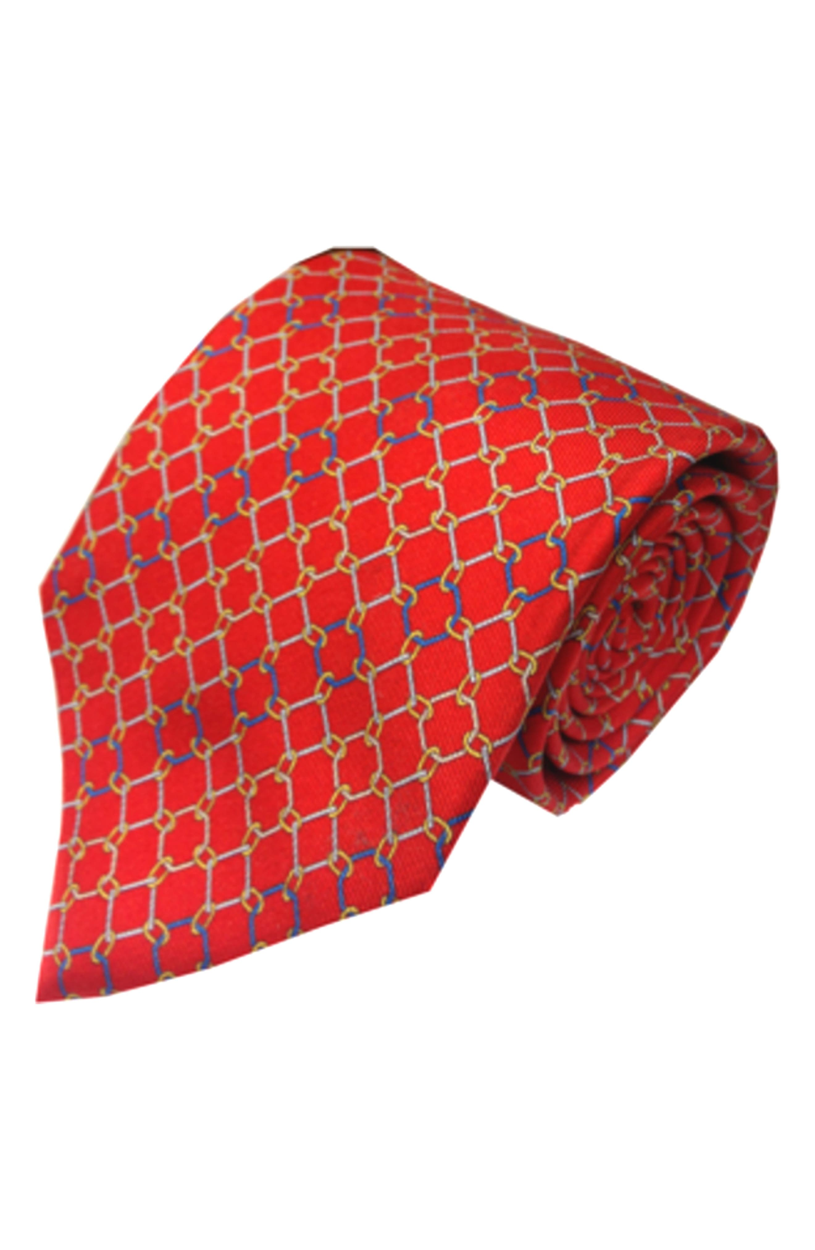 Ball & Chain Silk Tie,                         Main,                         color, Red