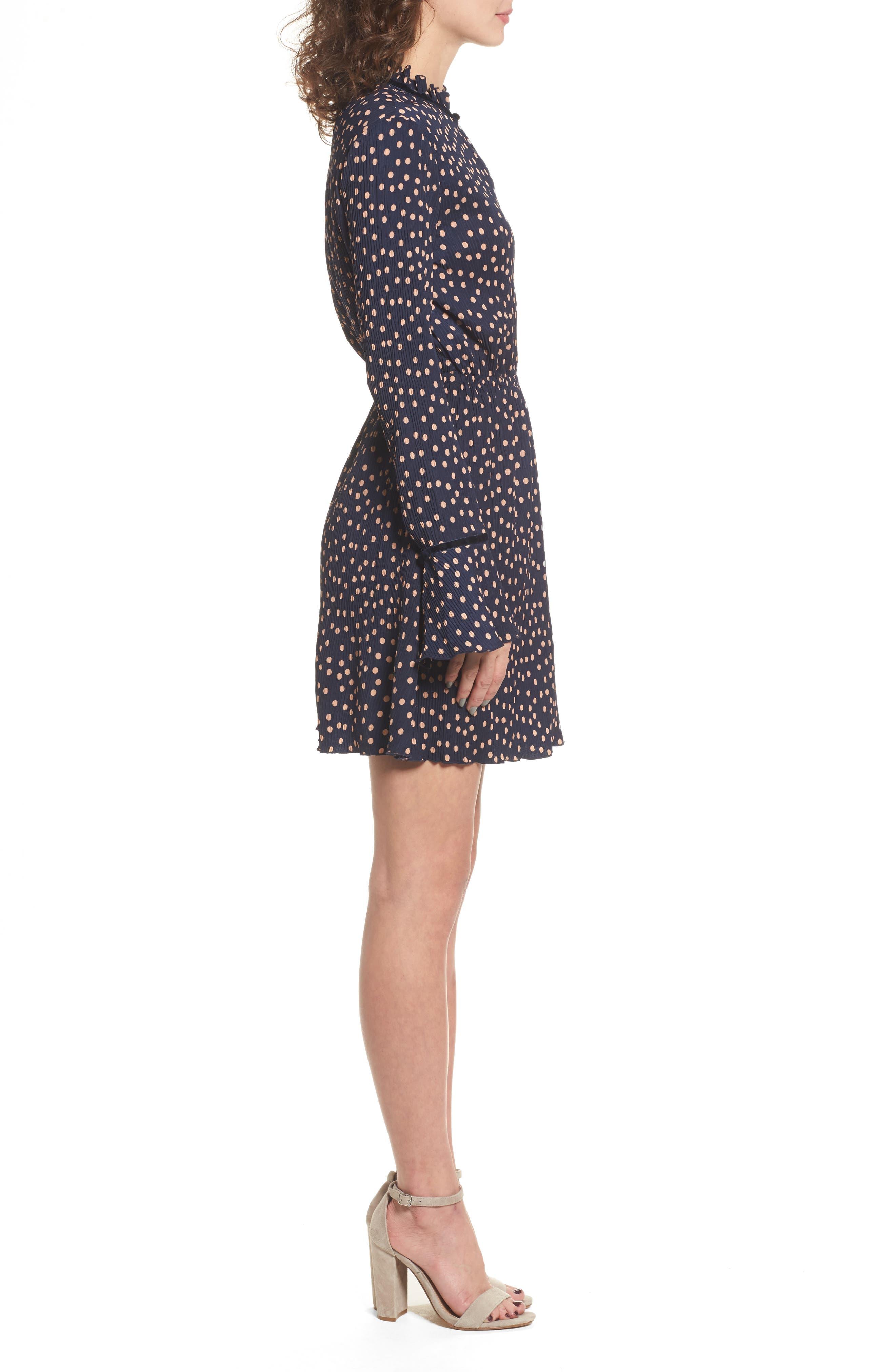 Atlanta Dress,                             Alternate thumbnail 4, color,                             Navy W Peach