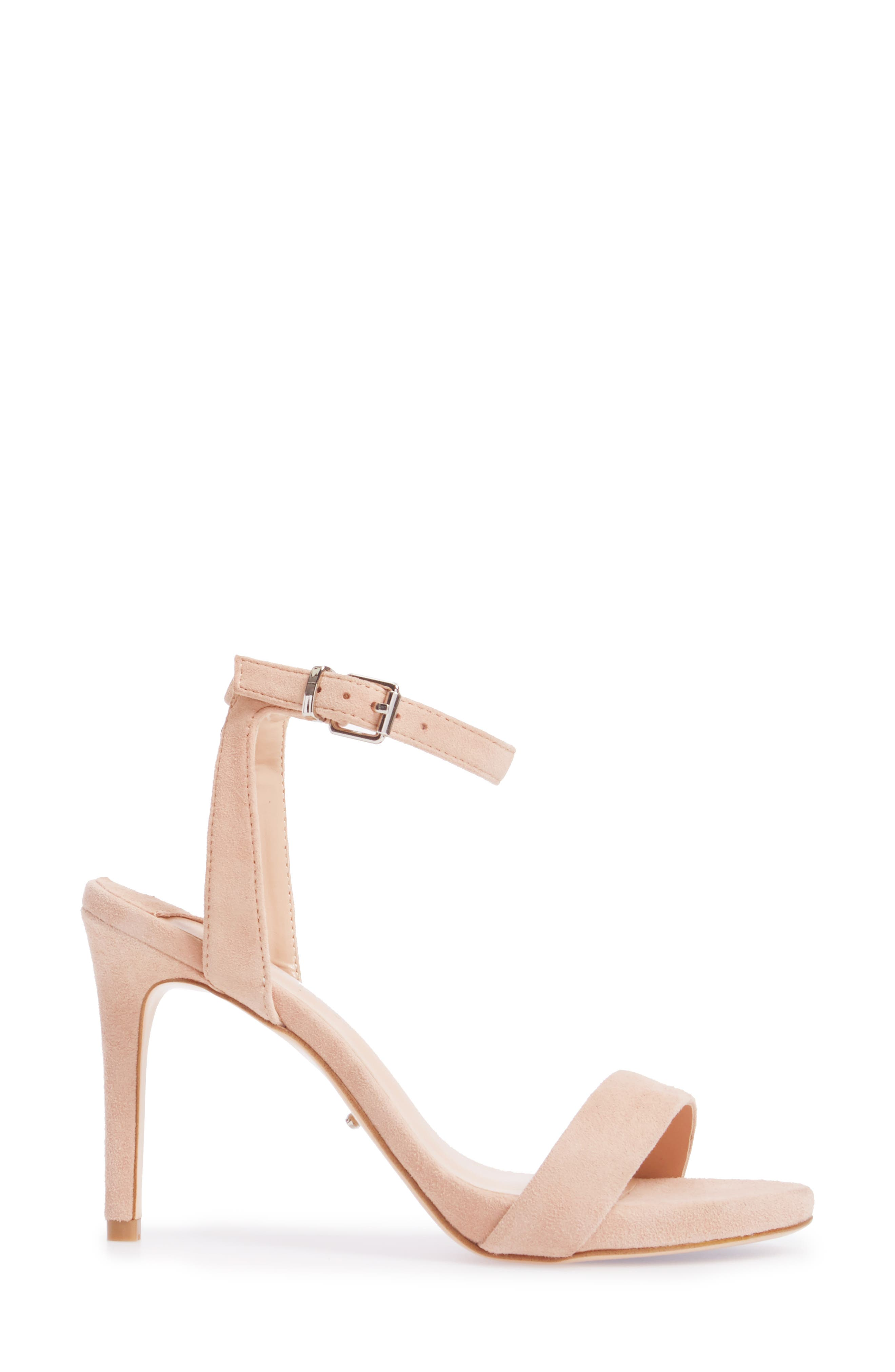 Char Ankle Cuff Sandal,                             Alternate thumbnail 3, color,                             Blush Suede