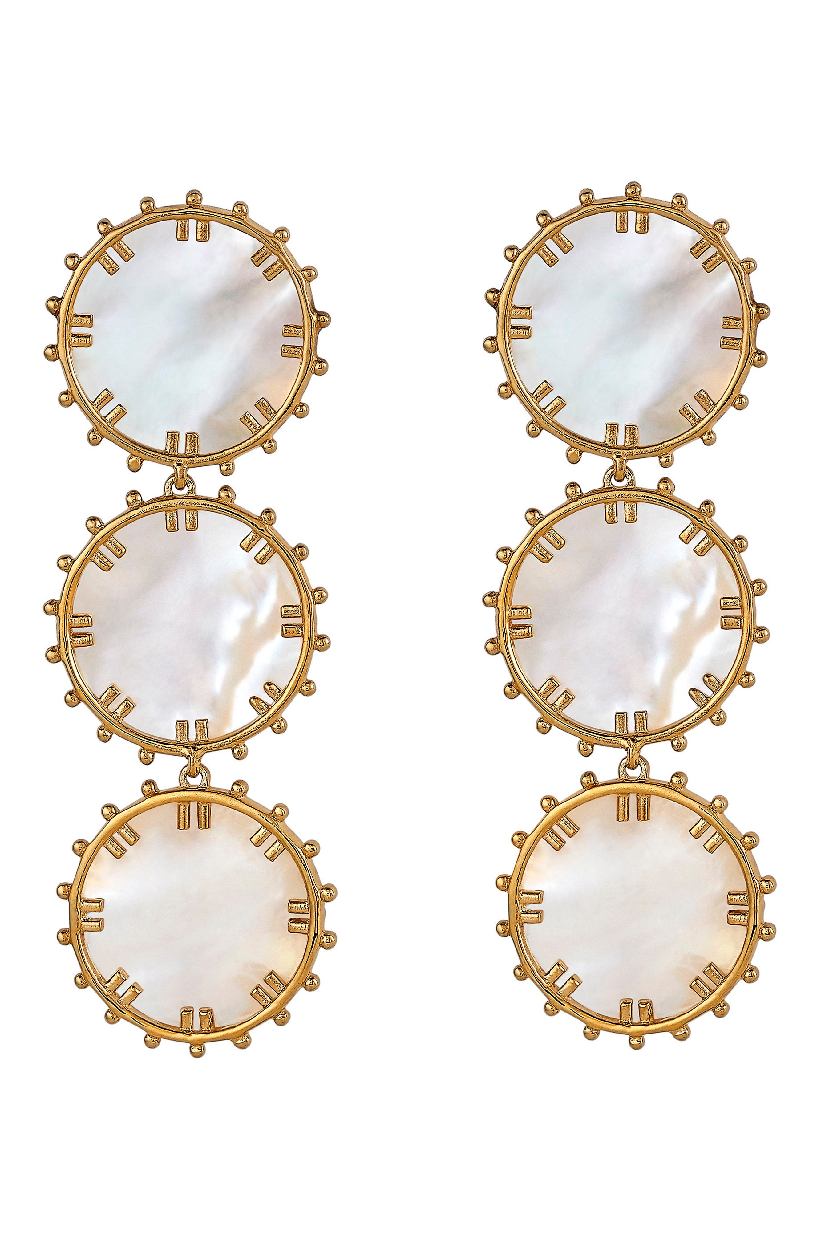 Manou Mother-of-Pearl Drop Earrings,                             Main thumbnail 1, color,                             Gold - Mother Of Pearl