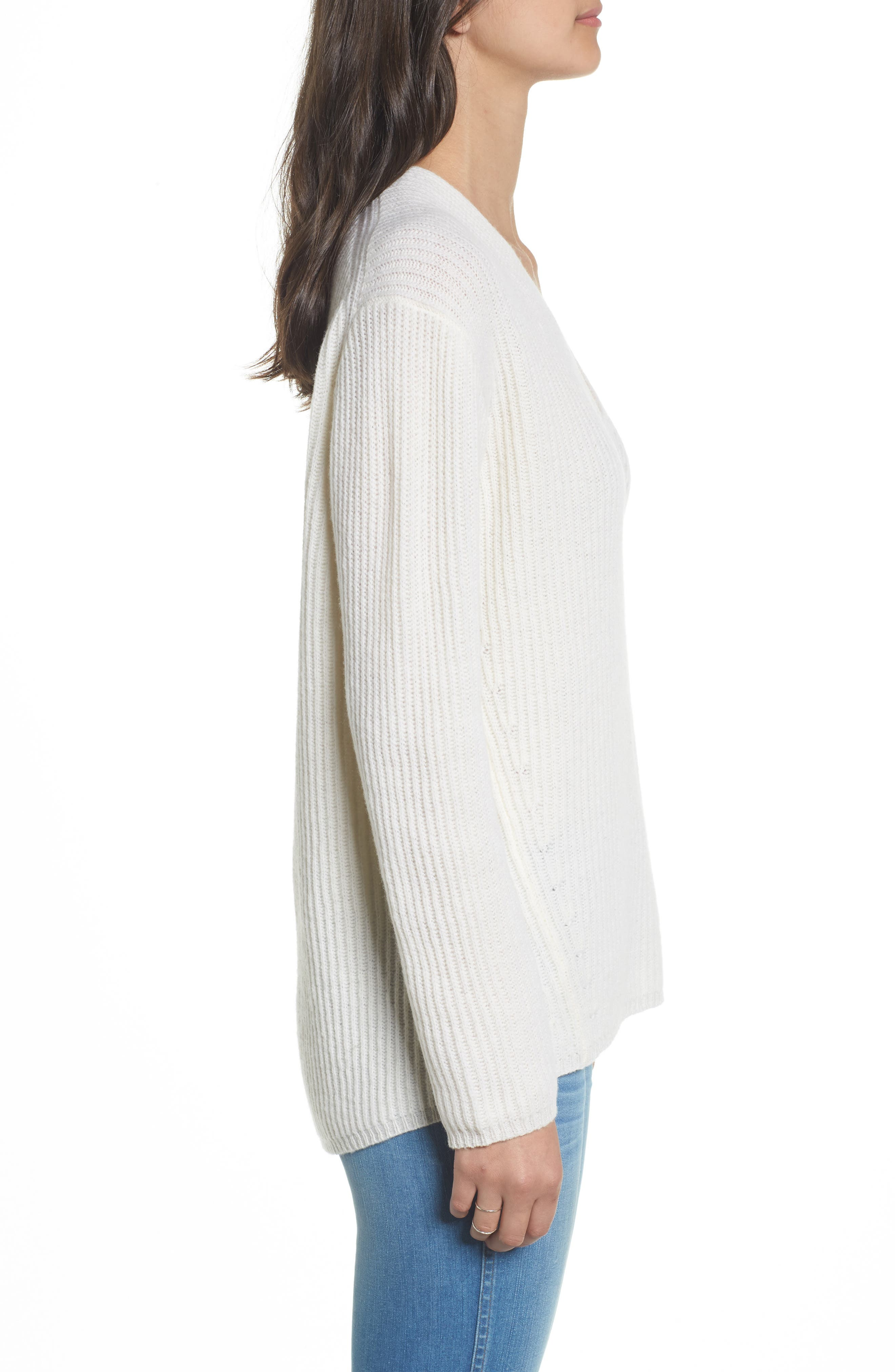 Woodside Pullover Sweater,                             Alternate thumbnail 3, color,                             Antique Cream