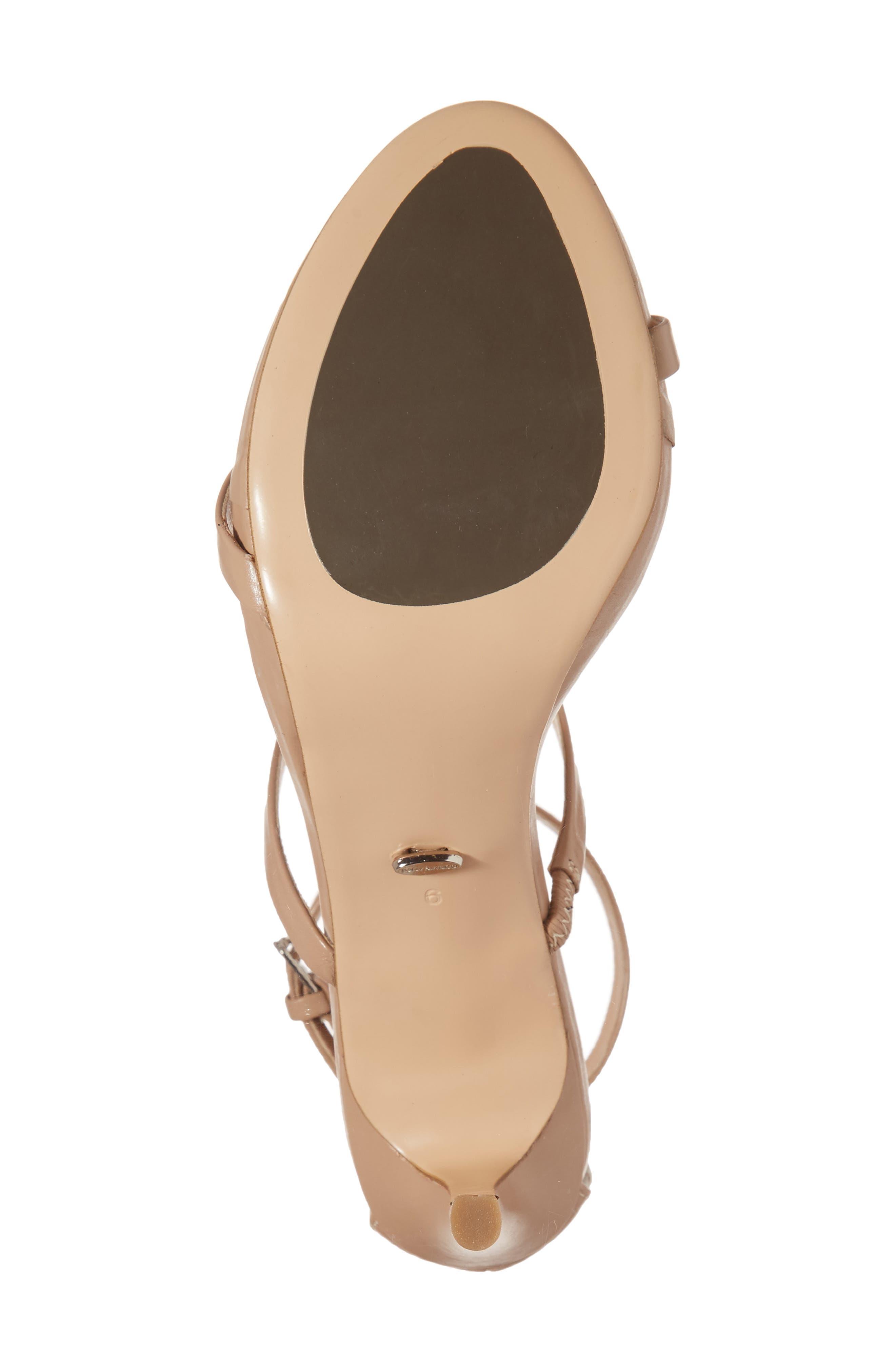 Carey Three-Strap Sandal,                             Alternate thumbnail 6, color,                             Skin Capretto Leather
