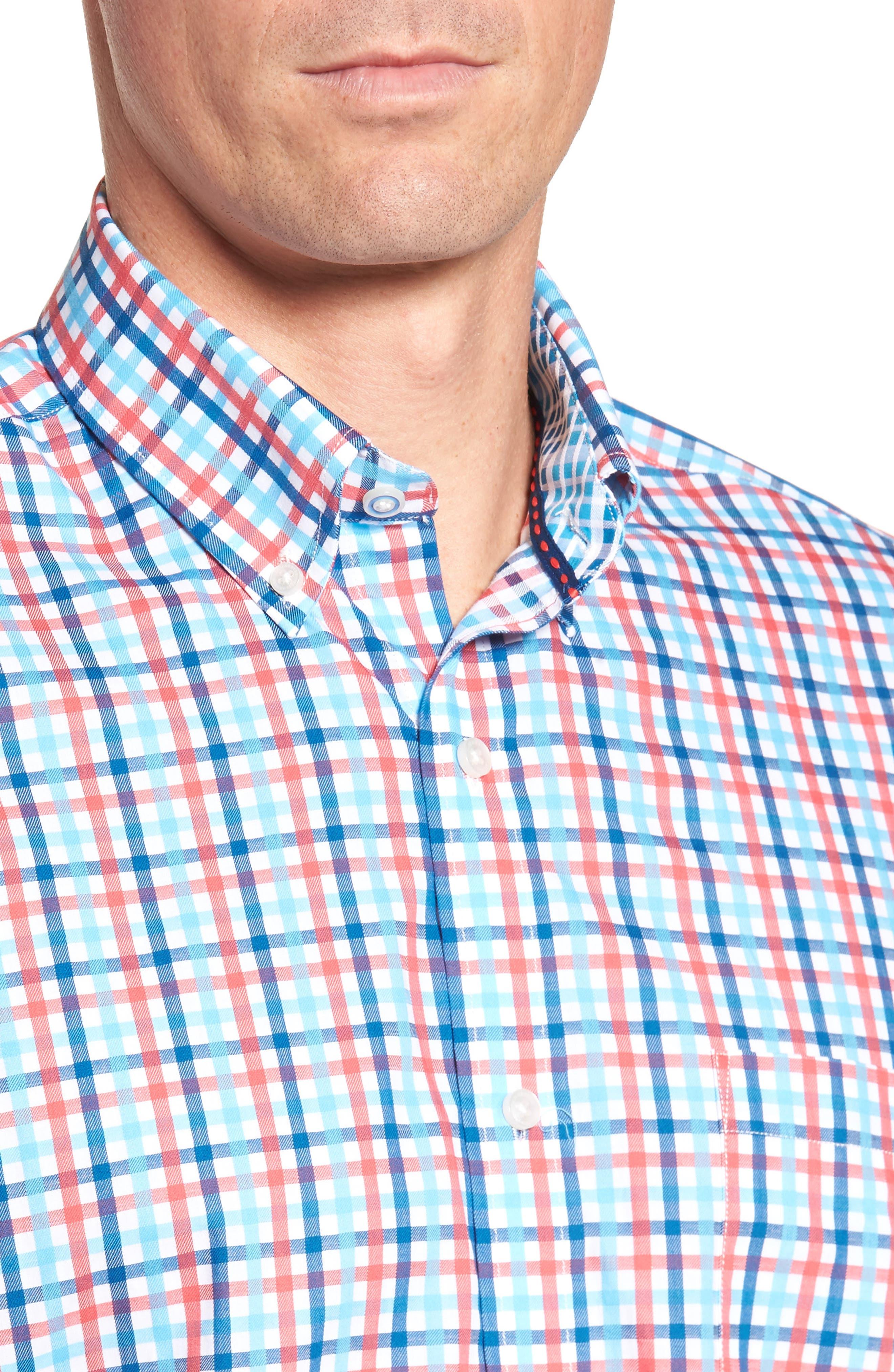 Alternate Image 4  - Tailorbyrd Scott Regular Fit Plaid Sport Shirt