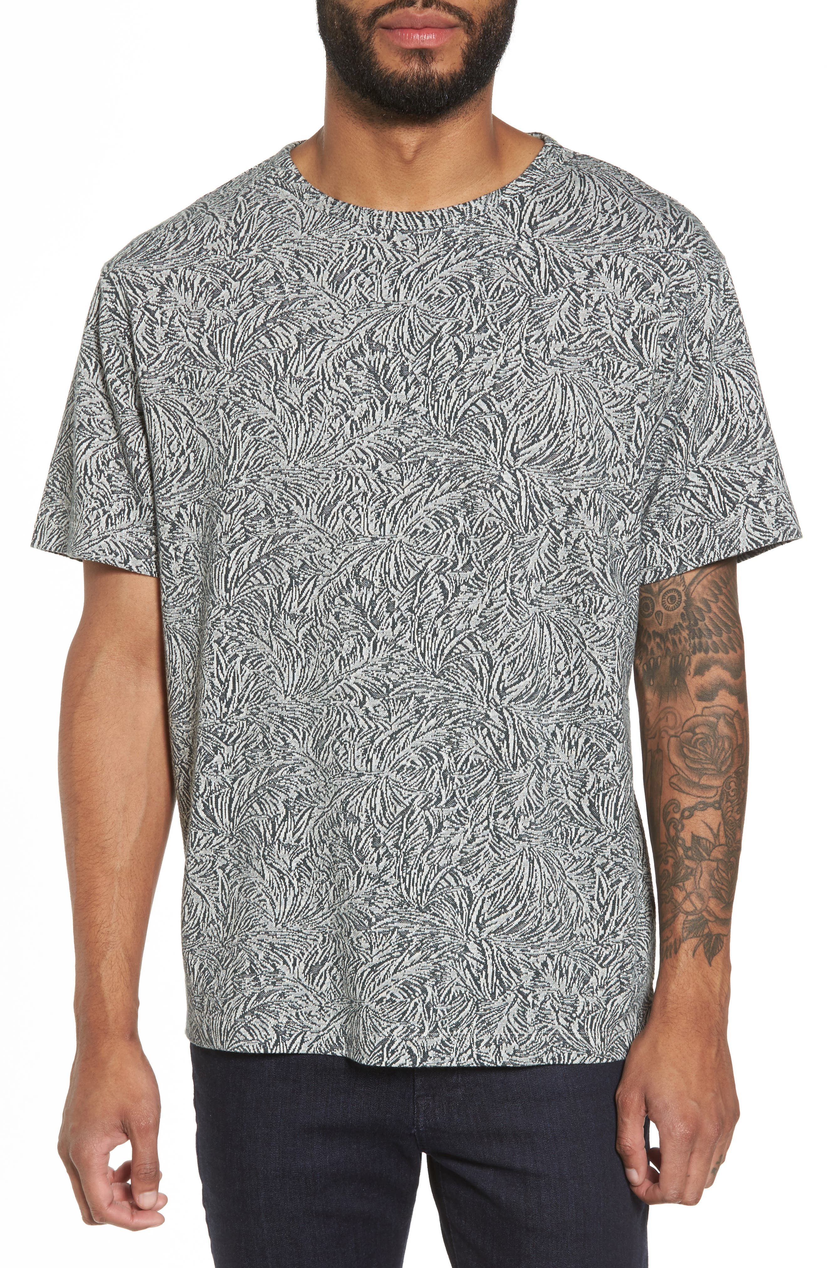 Alternate Image 1 Selected - Theory Palm Jacquard Crewneck T-Shirt