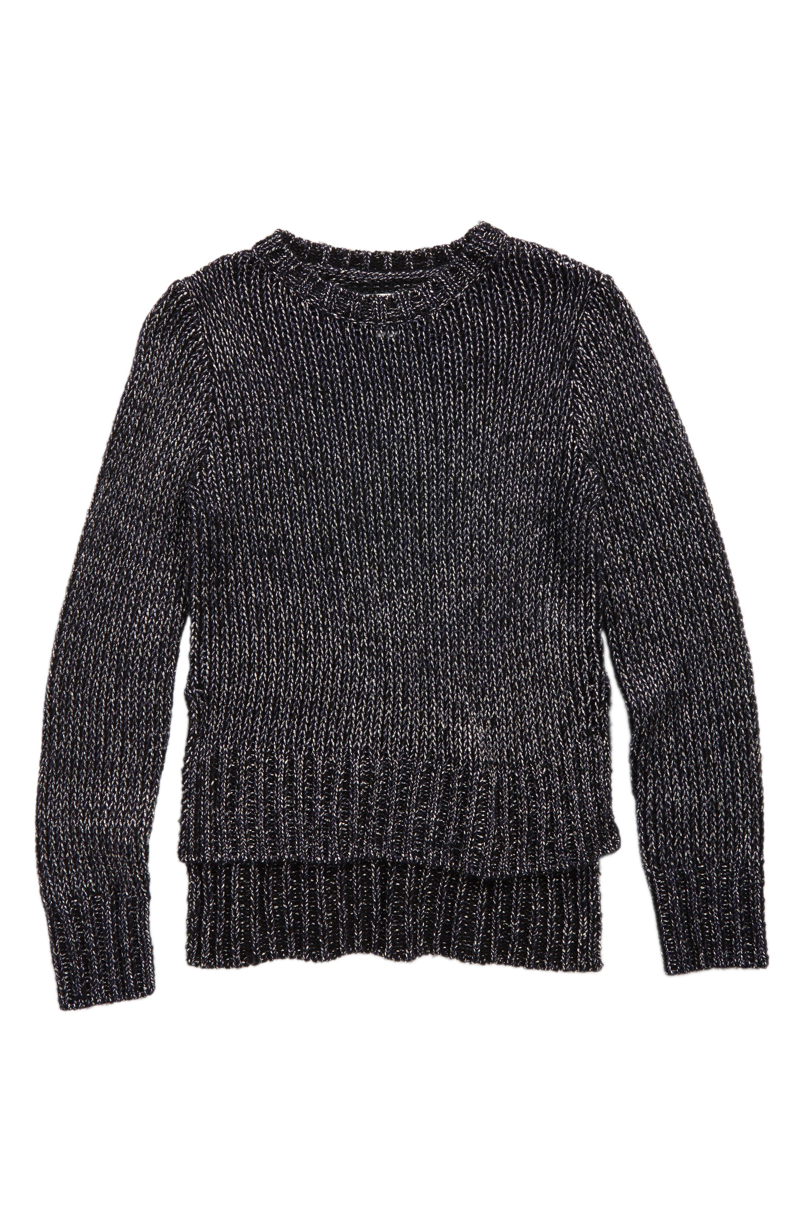 Main Image - Treasure & Bond Metallic Sweater (Big Girls)