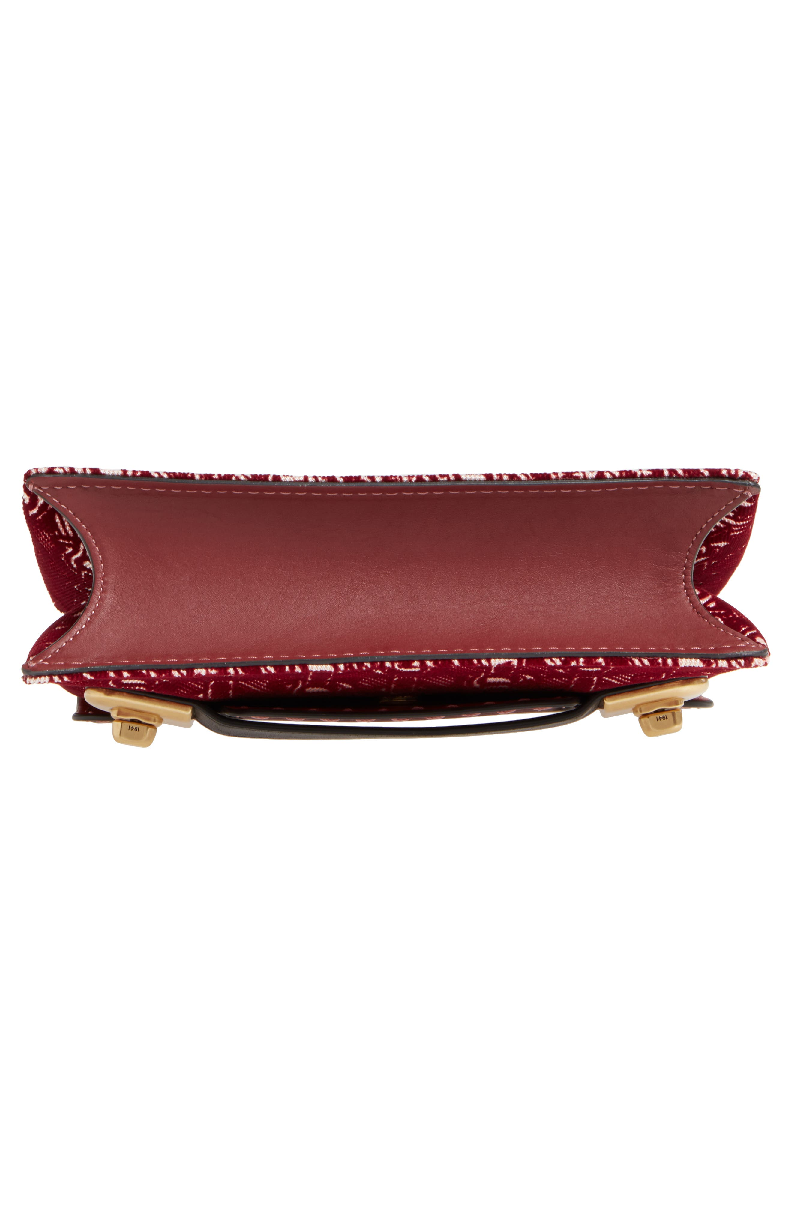 Swagger Chain Leather Crossbody Bag,                             Alternate thumbnail 6, color,                             Bordeaux
