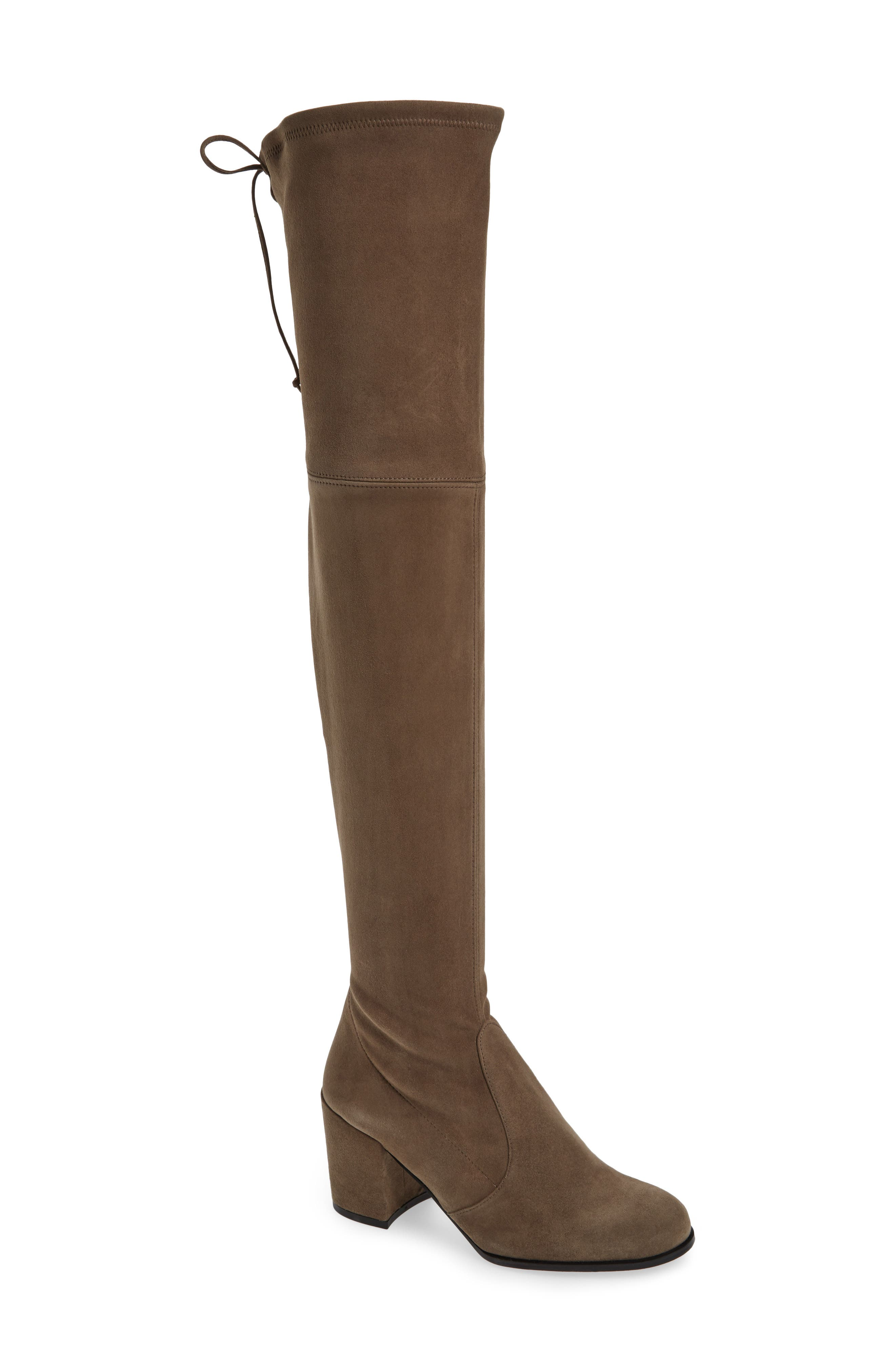 Tieland Over the Knee Boot,                             Main thumbnail 1, color,                             Praline Suede