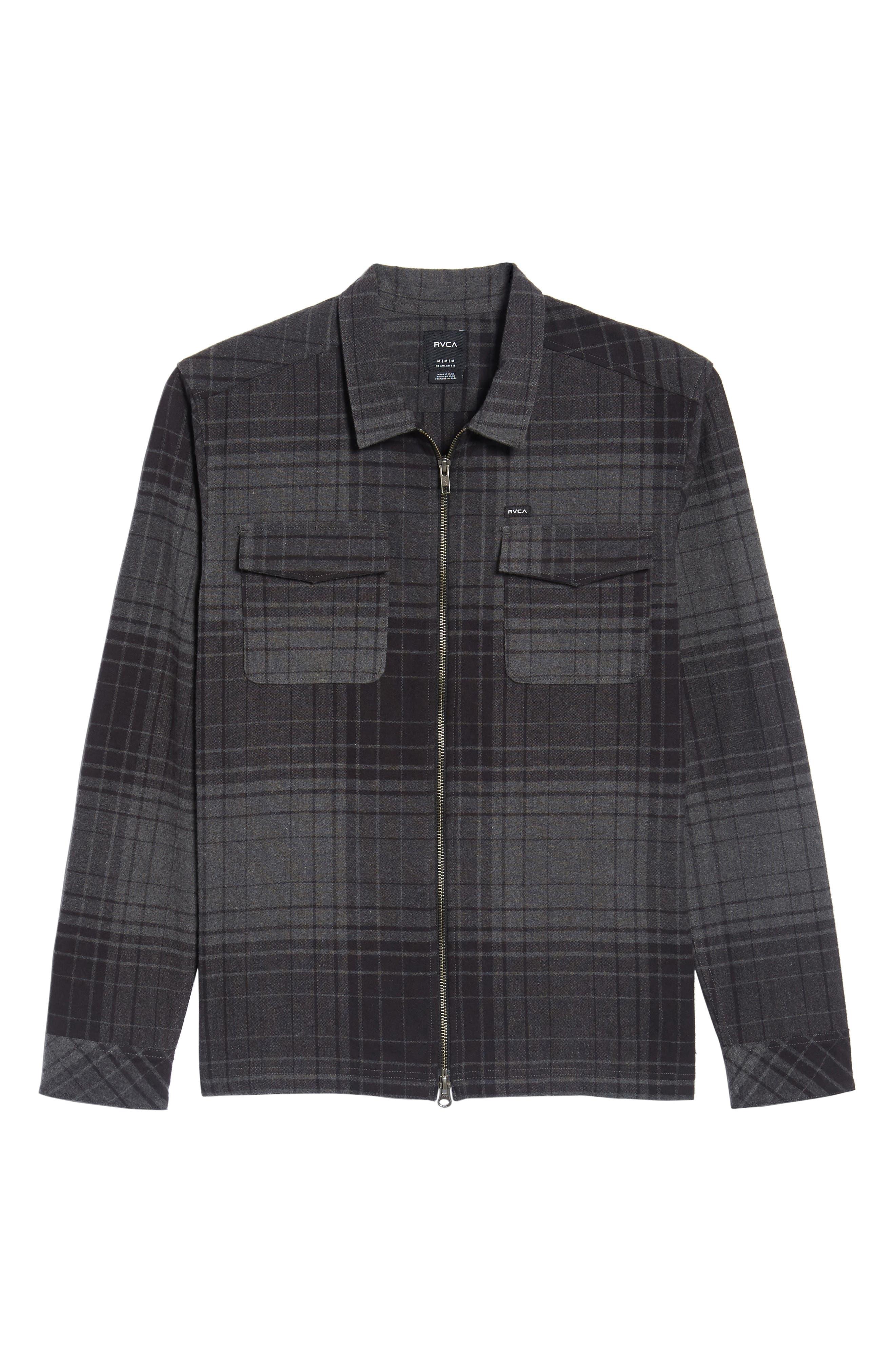 Lamar Shirt Jacket,                             Alternate thumbnail 6, color,                             Black
