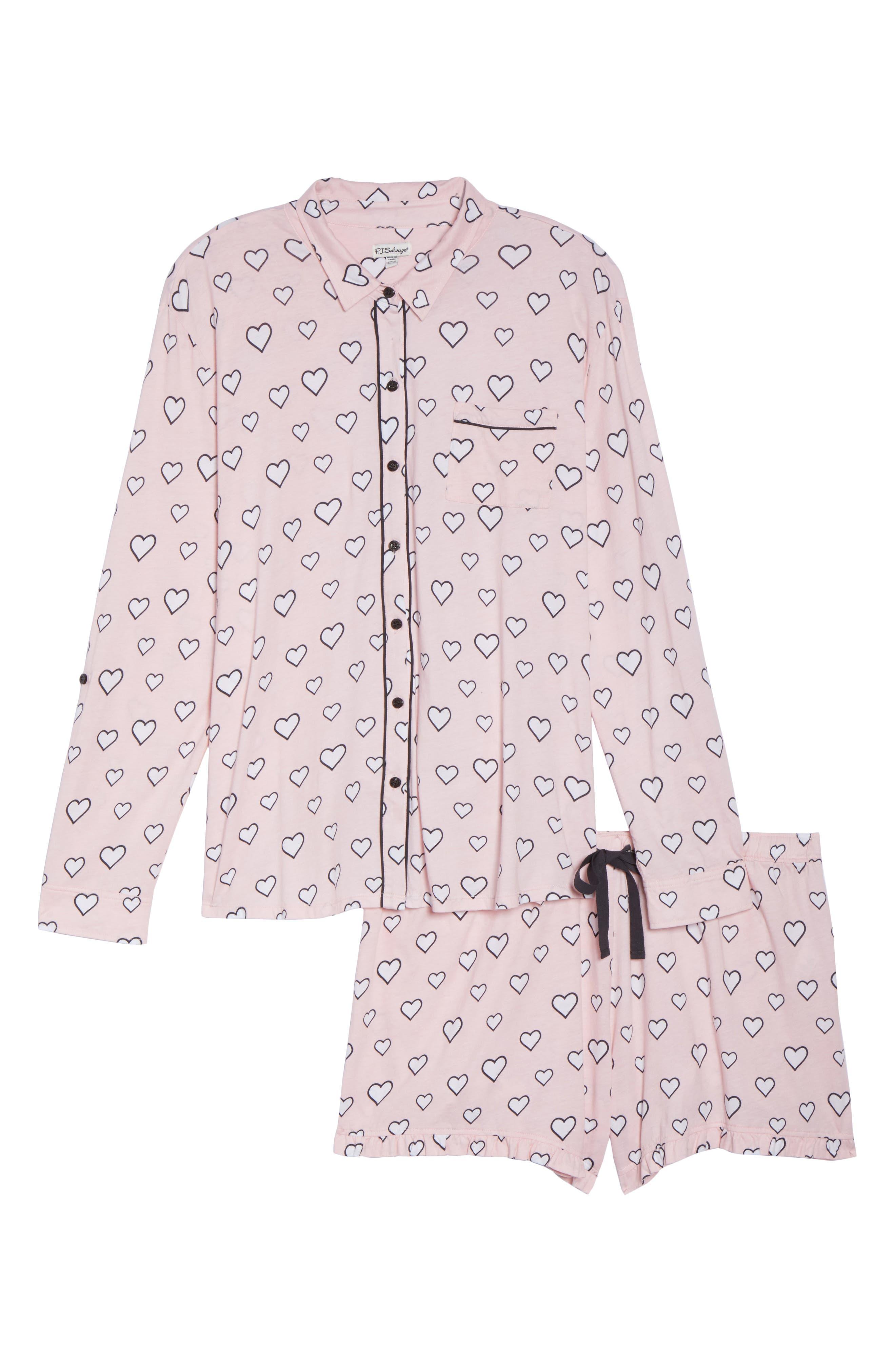 Alternate Image 6  - PJ Salvage Heart Print Short Pajamas (Plus Size)