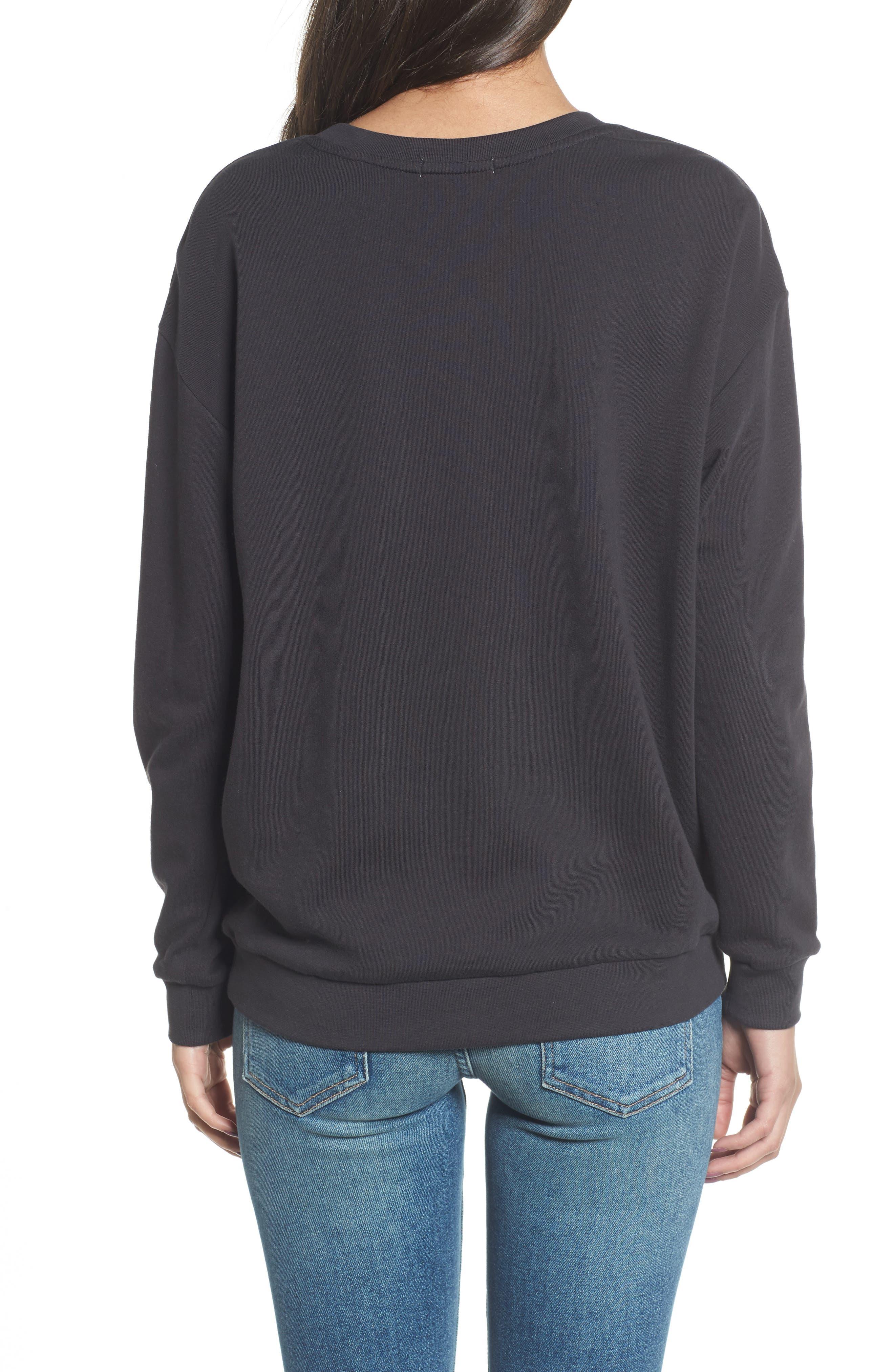 Alexa - Splash Sweatshirt,                             Alternate thumbnail 2, color,                             Black