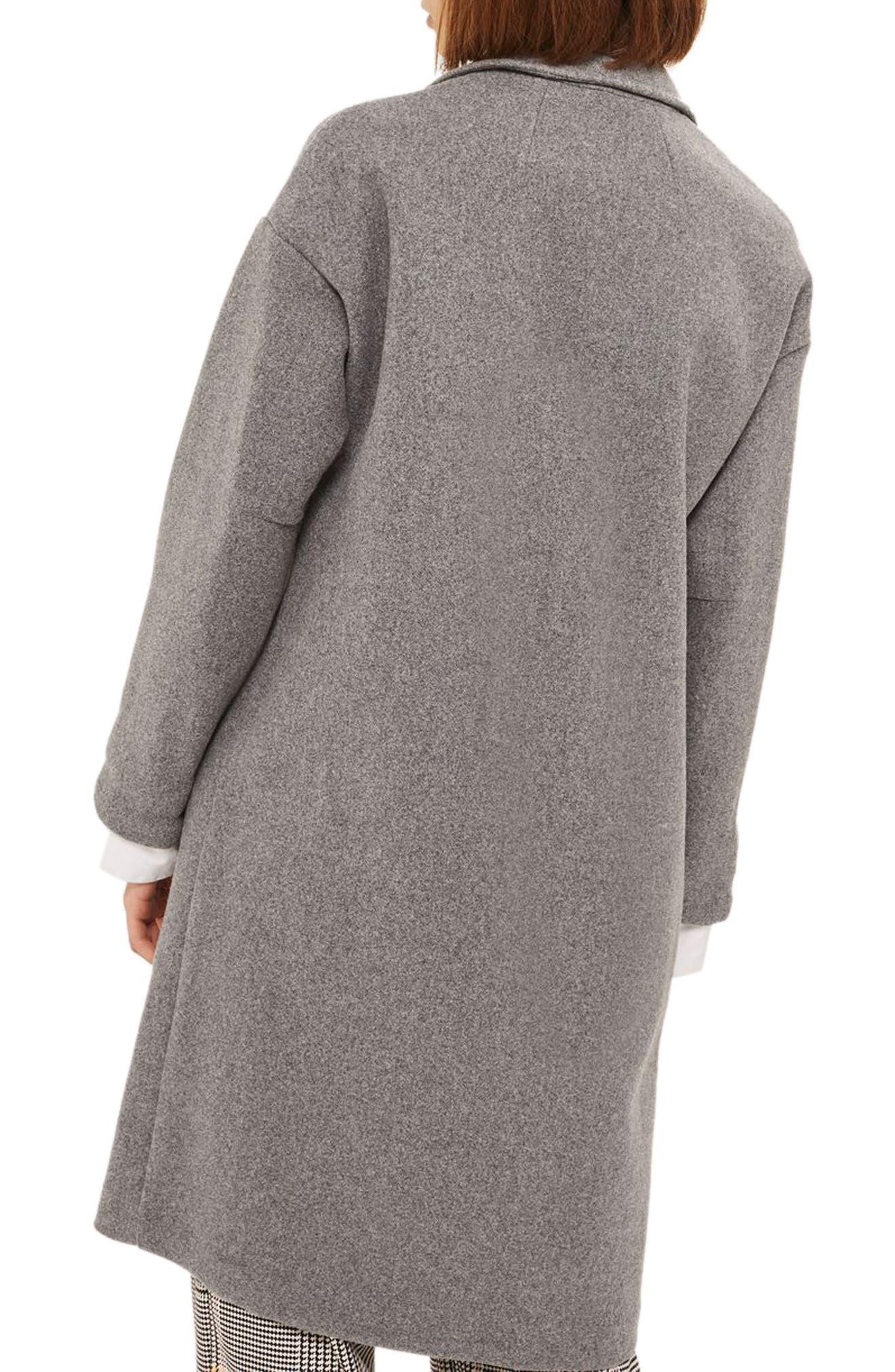 Bonded Knit Coat,                             Alternate thumbnail 2, color,                             Grey
