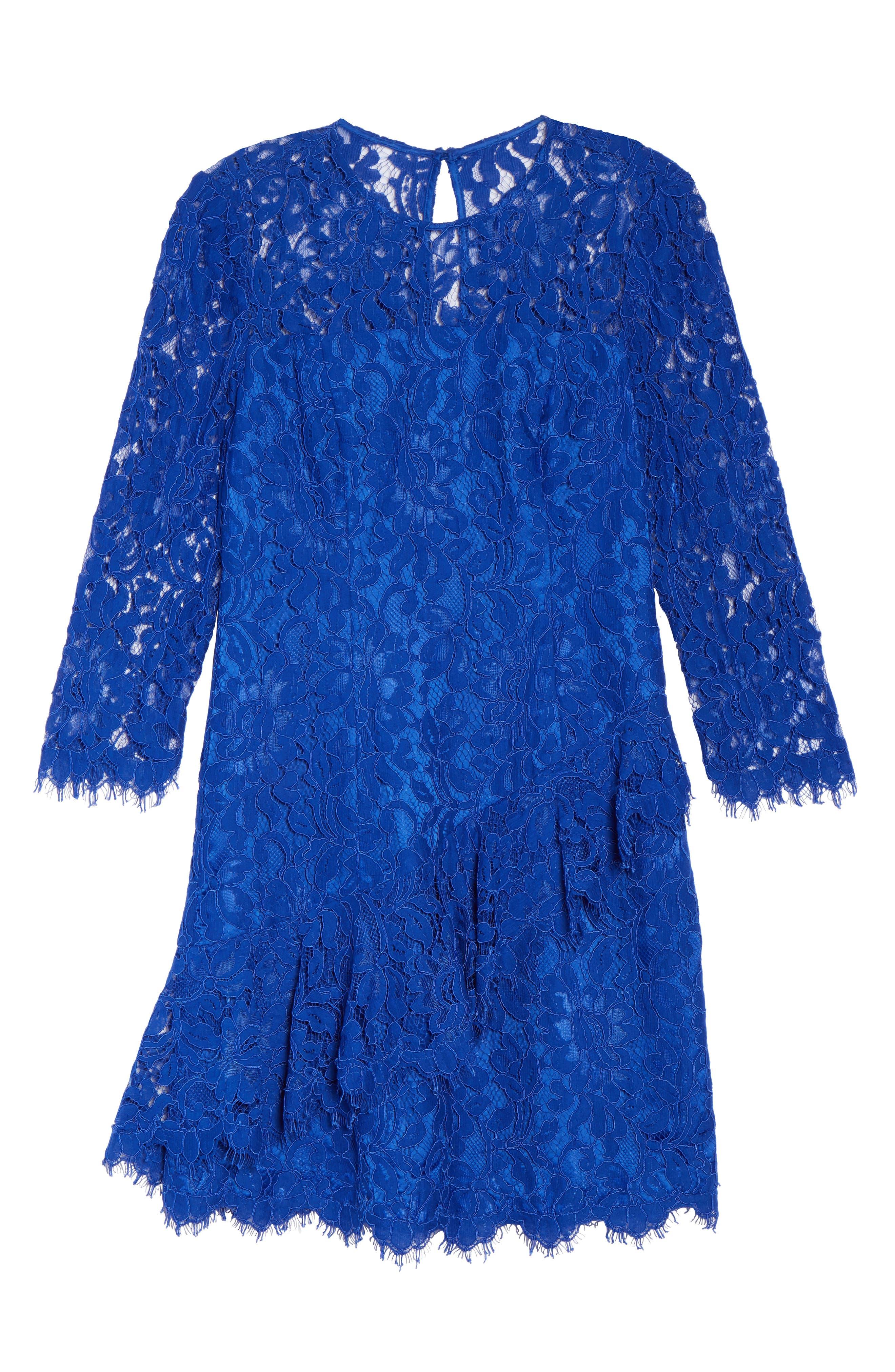 Alternate Image 6  - Eliza J Lace Fit & Flare Dress (Regular & Petite)