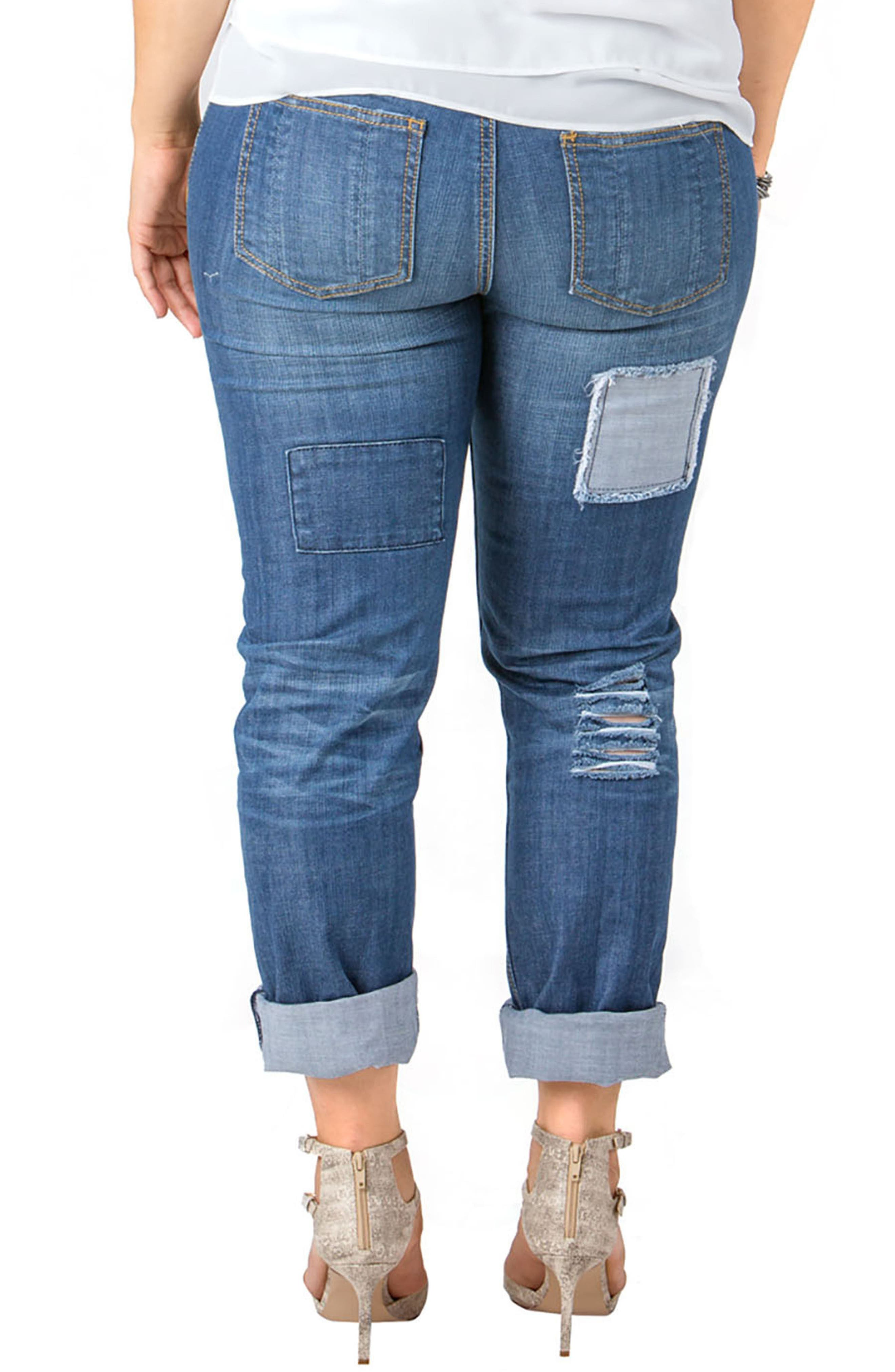 Rip & Repair X-Boyfriend Jeans,                             Alternate thumbnail 2, color,                             Repair
