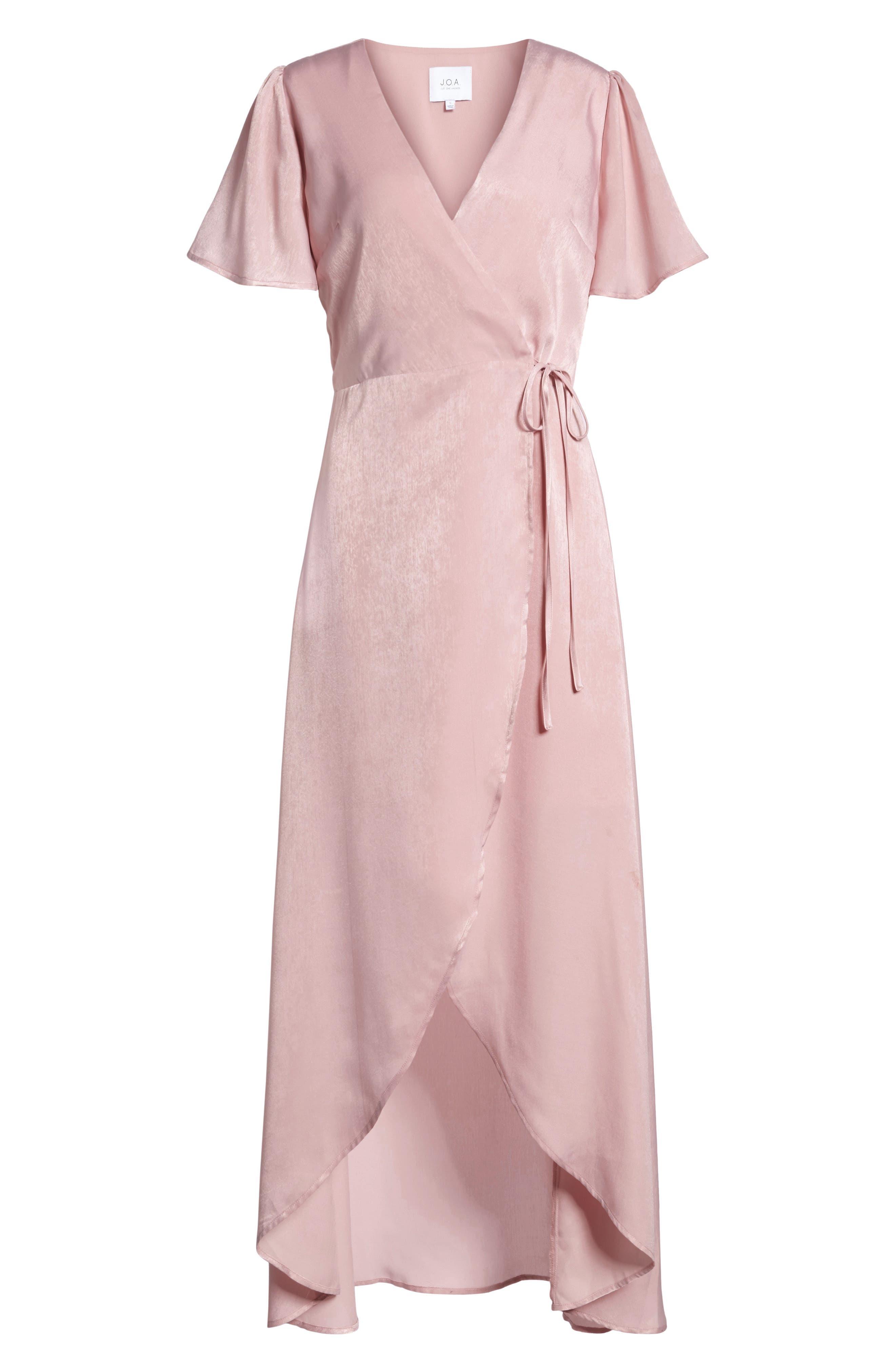 Wrap Maxi Dress,                             Alternate thumbnail 6, color,                             Ballet Pink