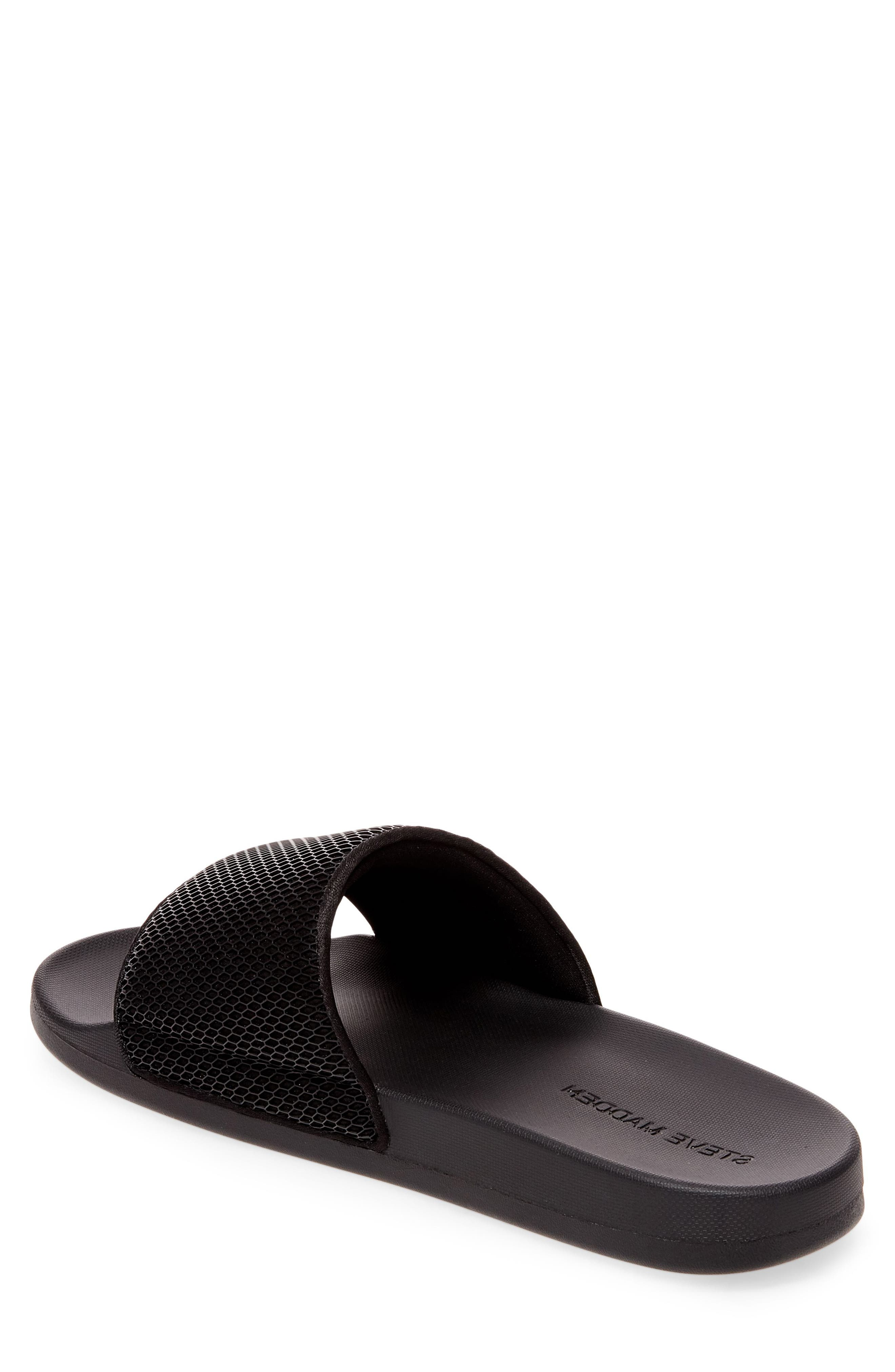 Ransom Slide Sandal,                             Alternate thumbnail 3, color,                             Black