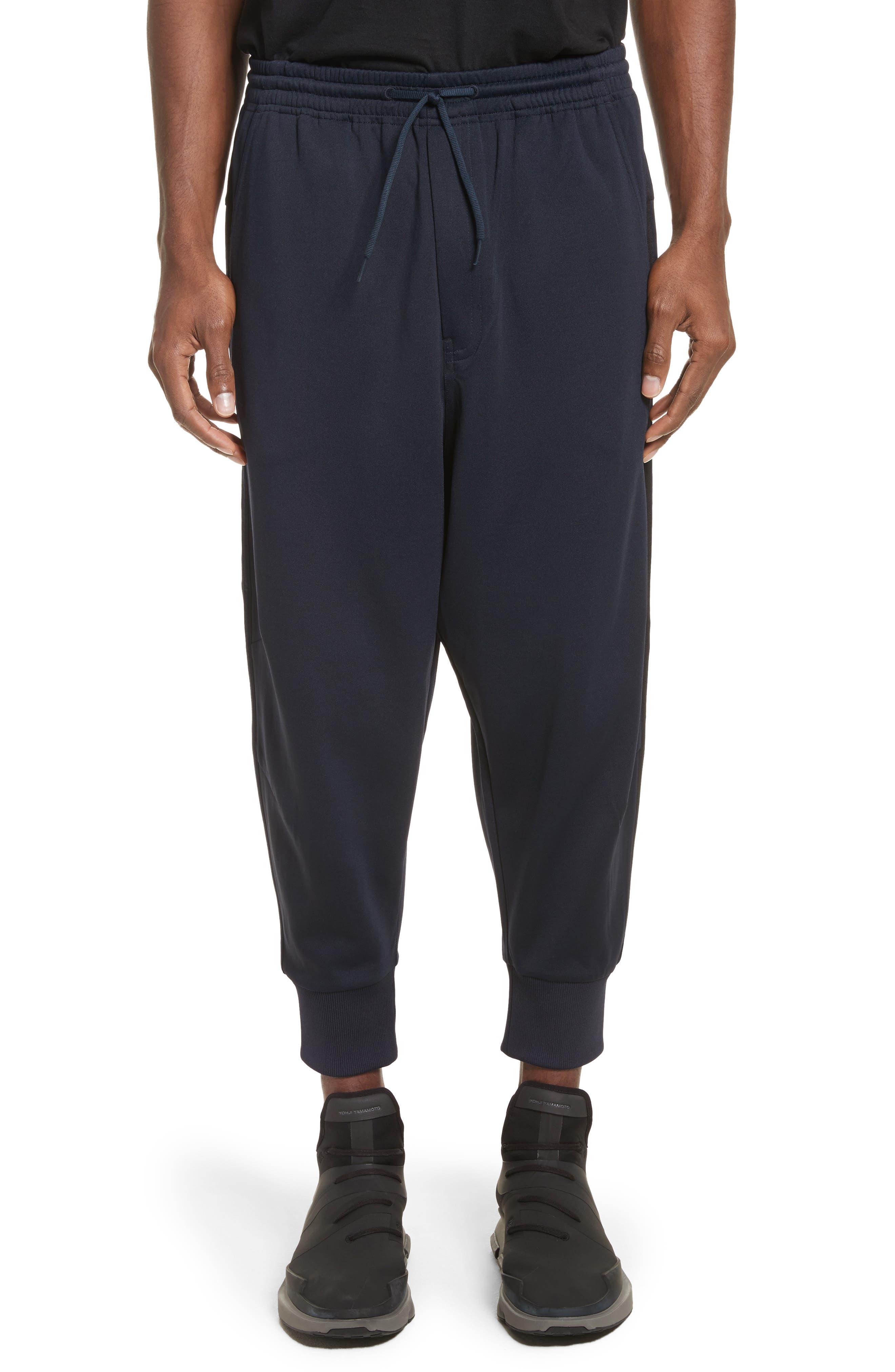 x adidas Cropped Track Pants,                             Main thumbnail 1, color,                             Navy