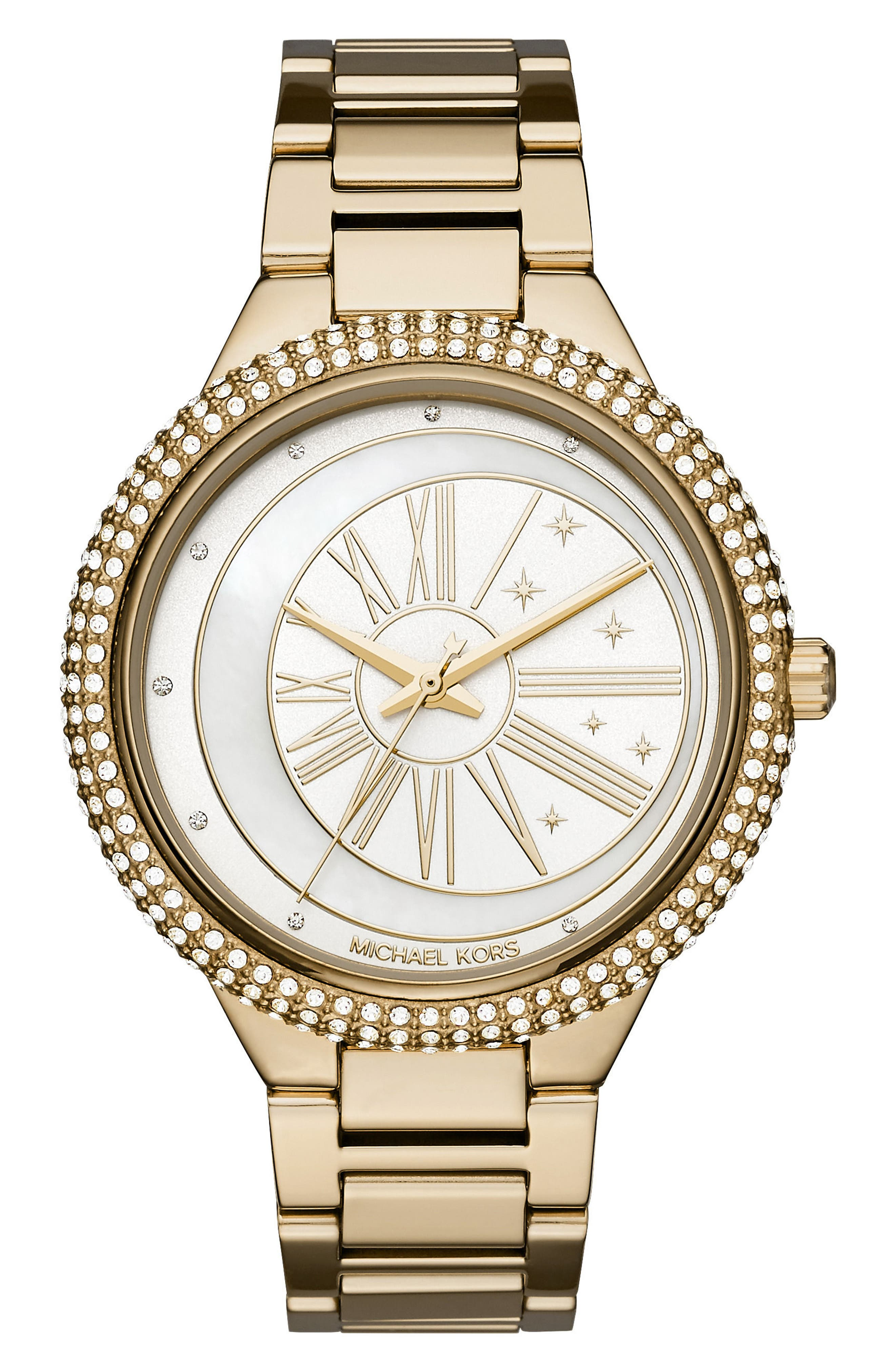 Main Image - Michael Kors Taryn Crystal Bracelet Watch, 40mm
