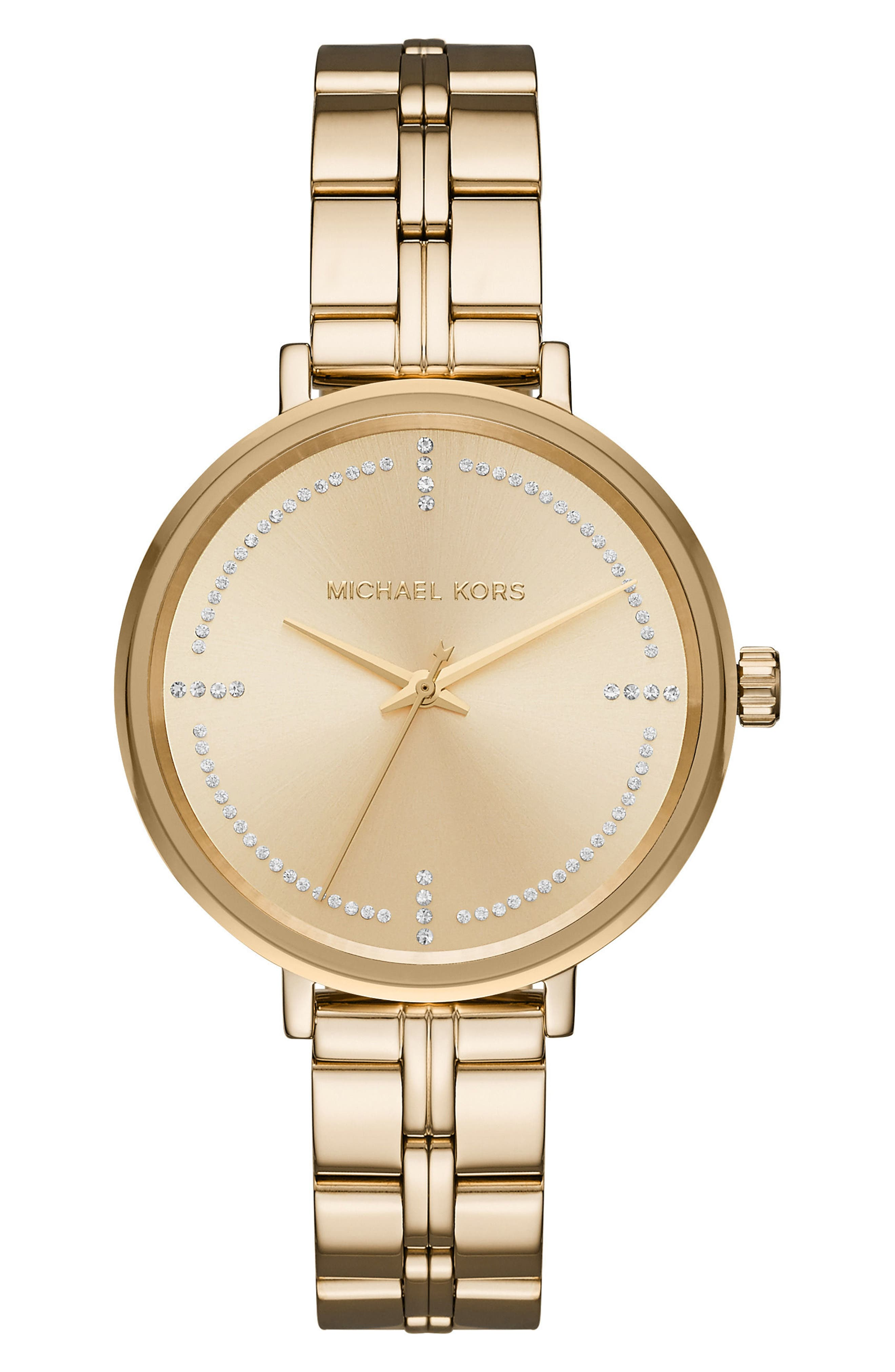 Alternate Image 1 Selected - Michael Kors Bridgette Crystal Bracelet Watch, 38mm