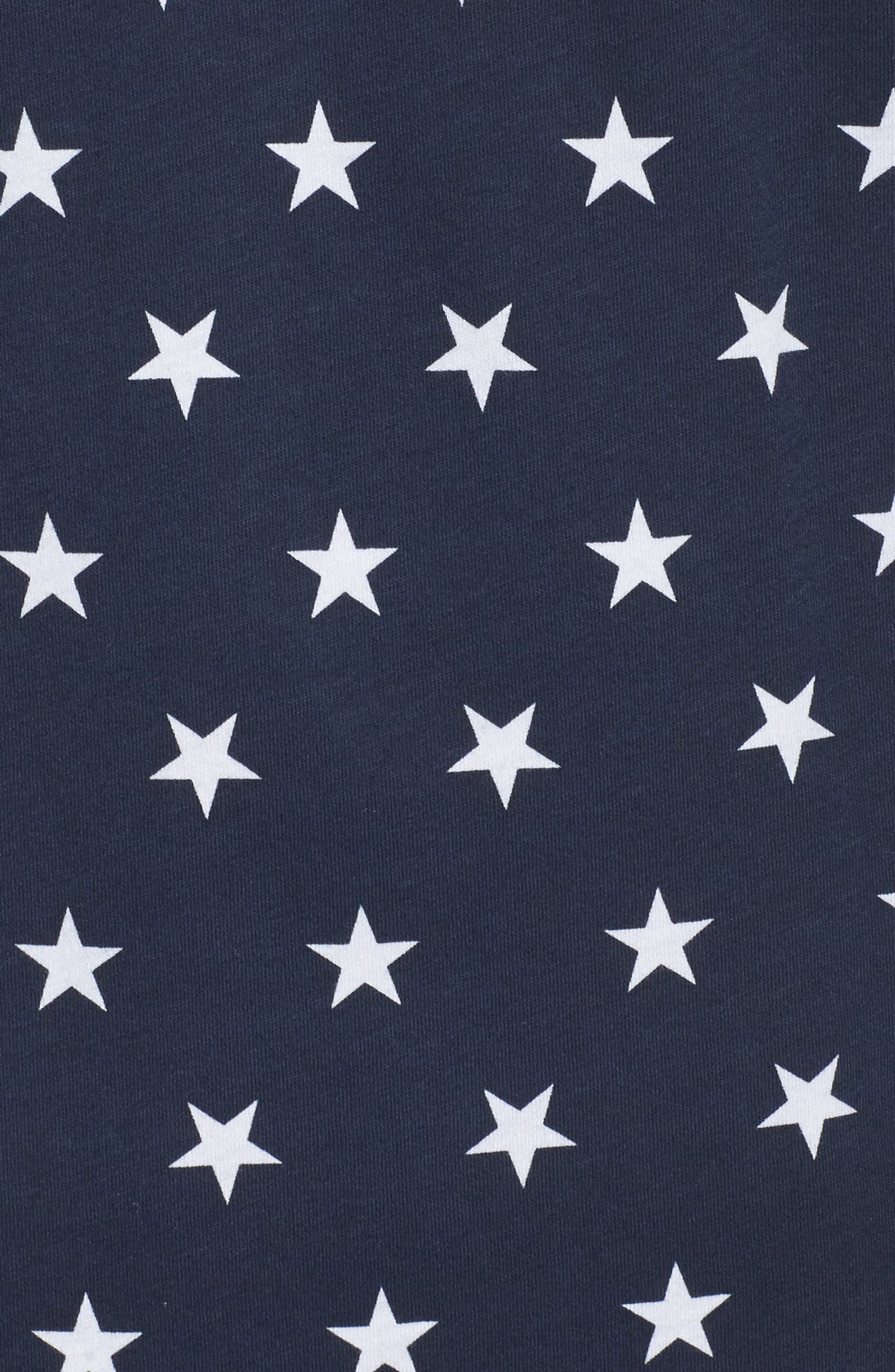 International Collection Tee,                             Alternate thumbnail 6, color,                             Cosmic Blue Star Print