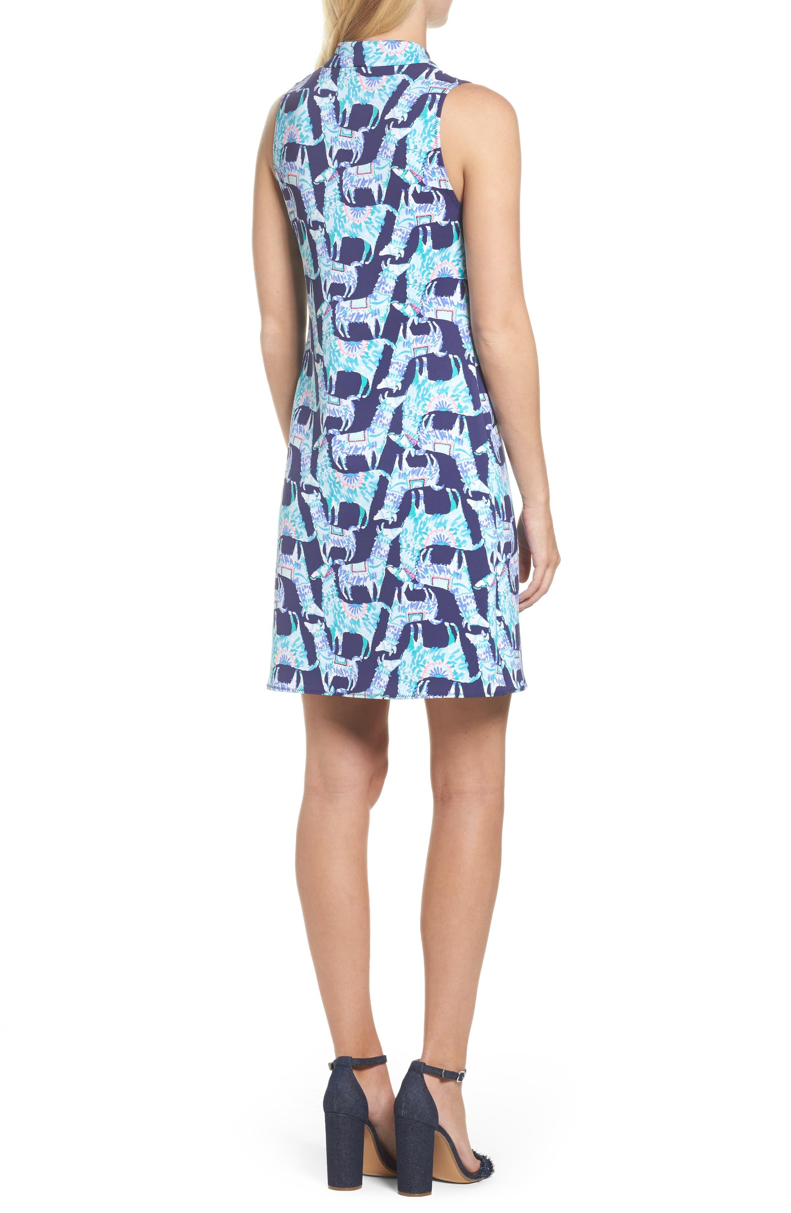 Opal Shift Dress,                             Alternate thumbnail 2, color,                             Bright Navy Alpaca My Bags