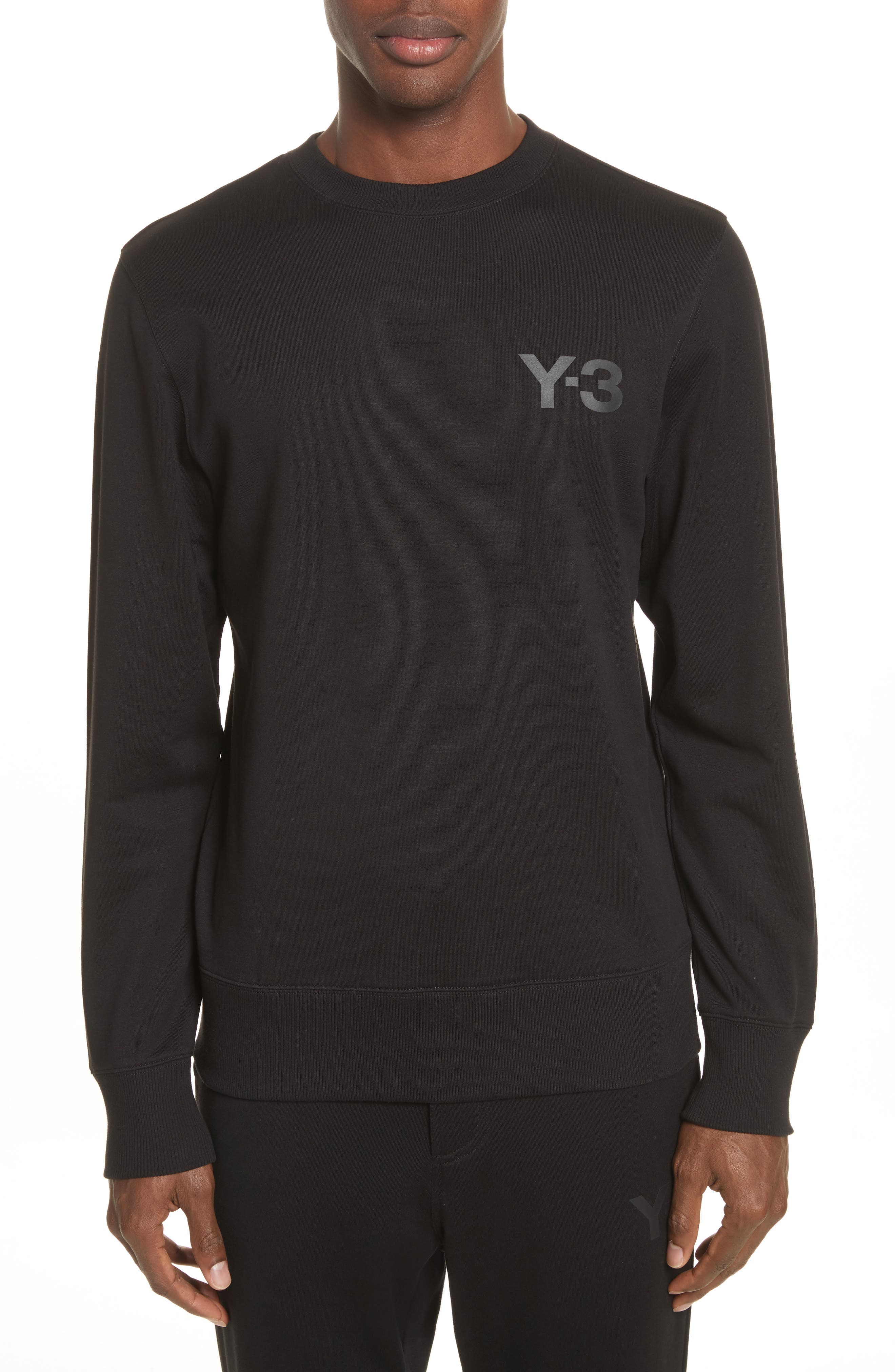 Y-3 Logo Print Crewneck Sweatshirt