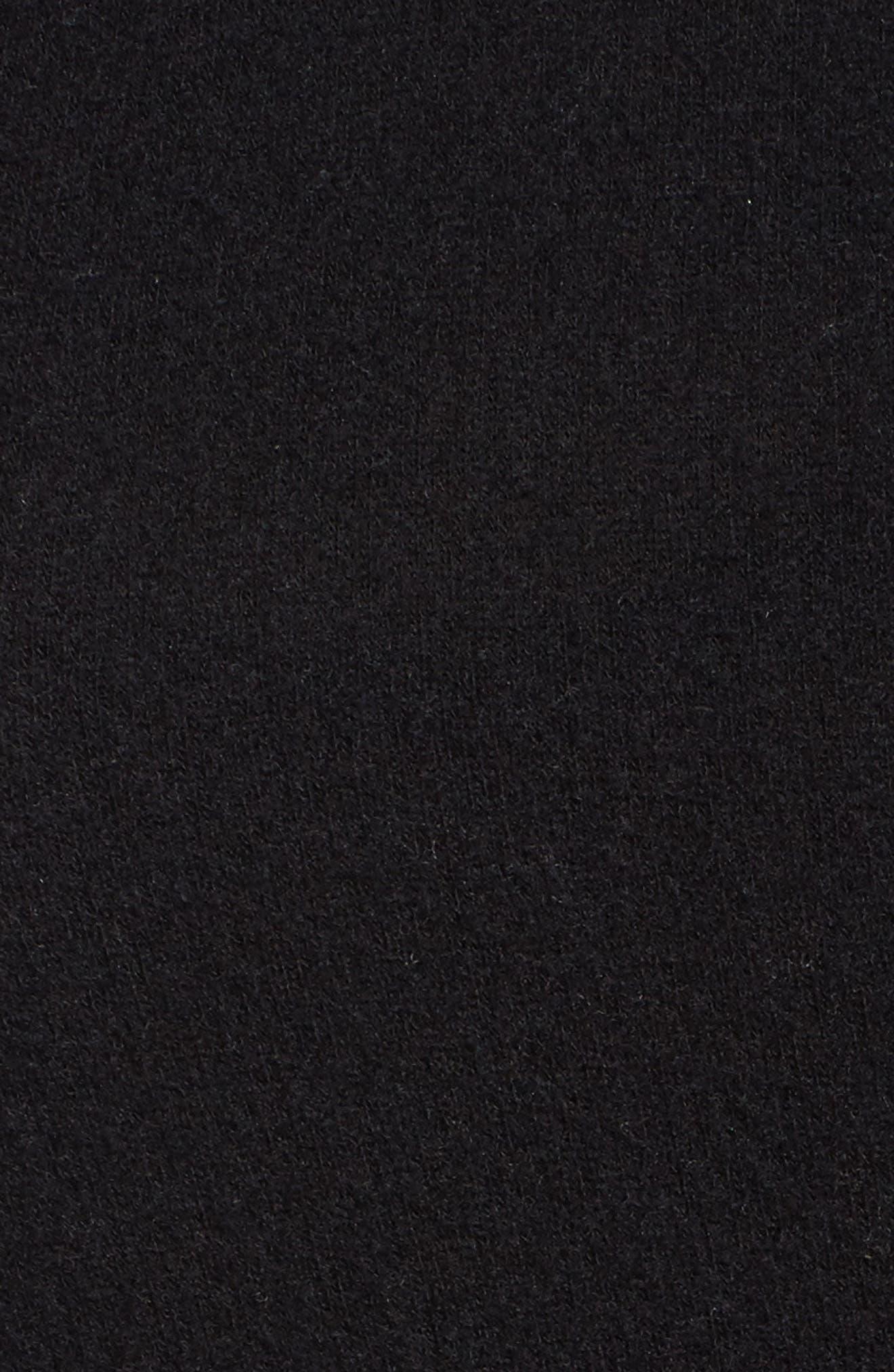 Drop Shoulder Pocket Top,                             Alternate thumbnail 5, color,                             Black