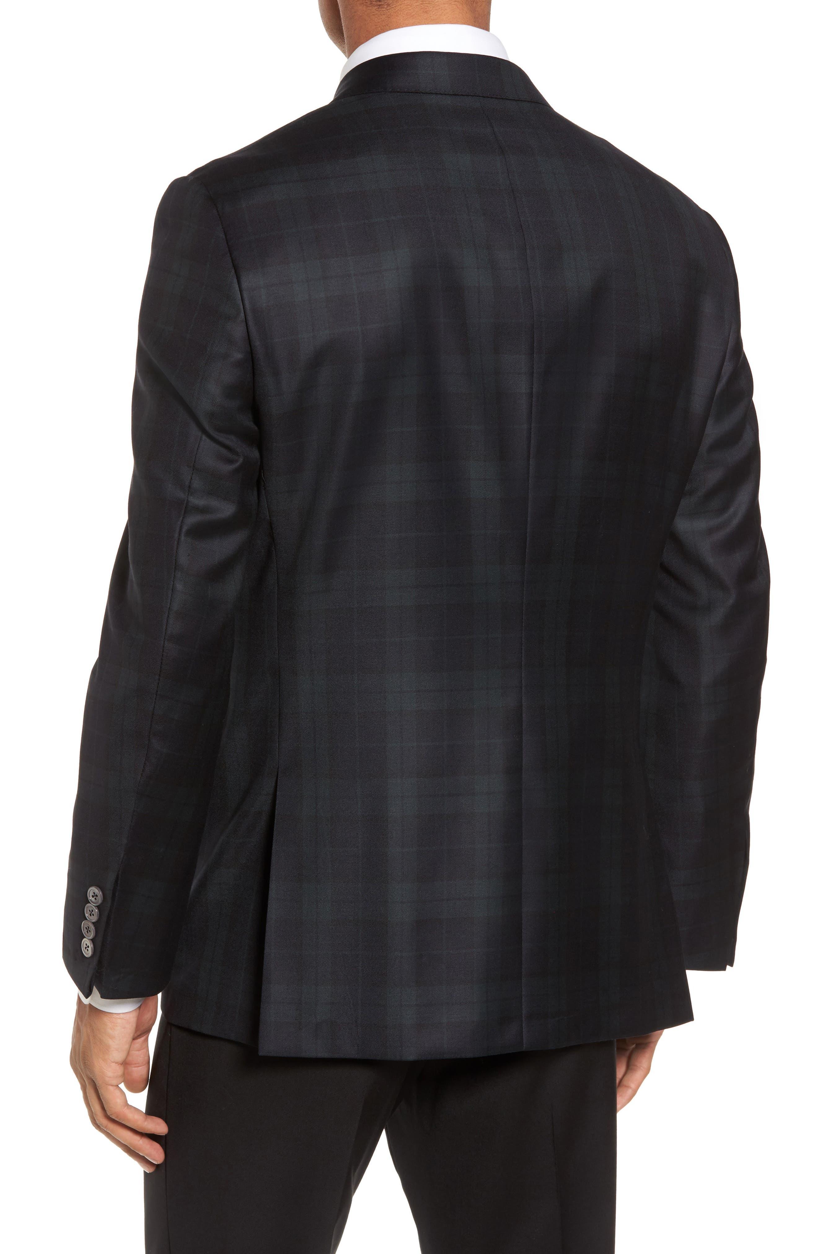Alternate Image 2  - Hickey Freeman Classic B Fit Plaid Wool Dinner Jacket