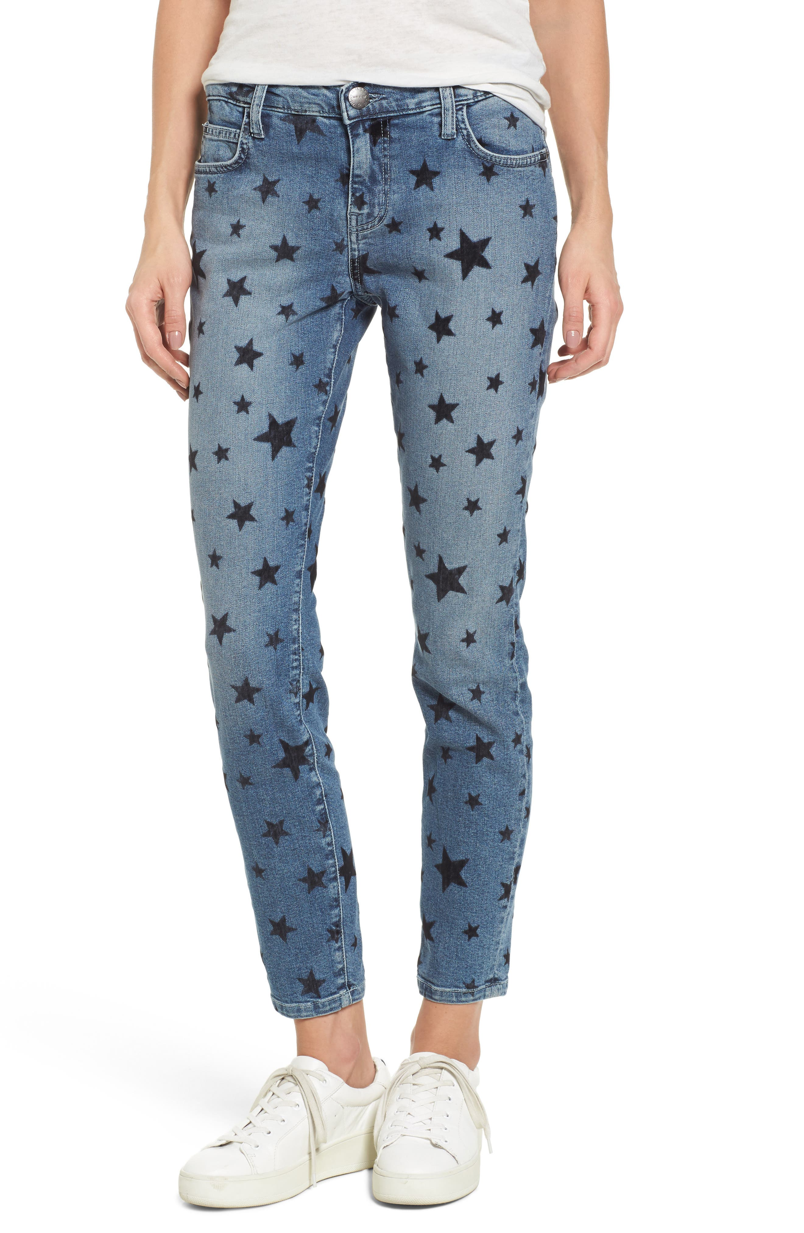 Current/Elliott The Stiletto Skinny Jeans (Flocked Star)