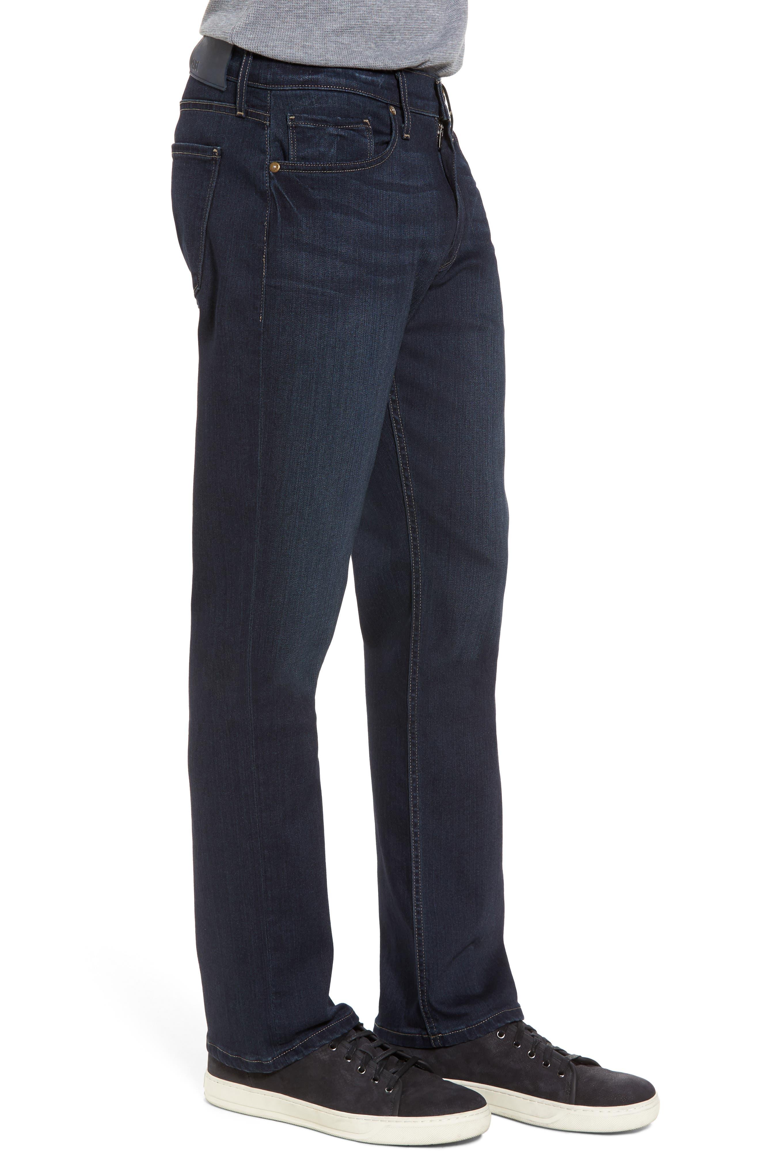 Transcend - Normandie Straight Fit Jeans,                             Alternate thumbnail 3, color,                             Barrington