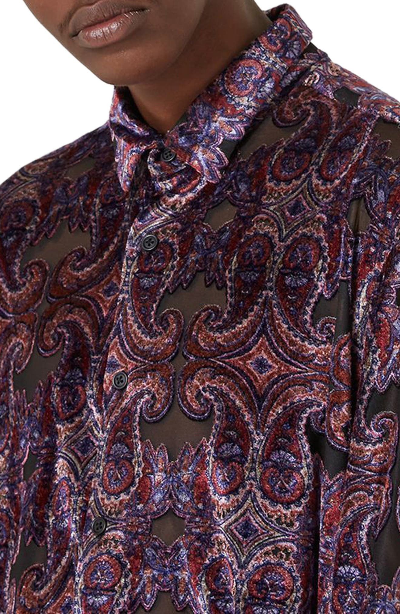 Alternate Image 3  - Topman Paisley Classic Fit Shirt
