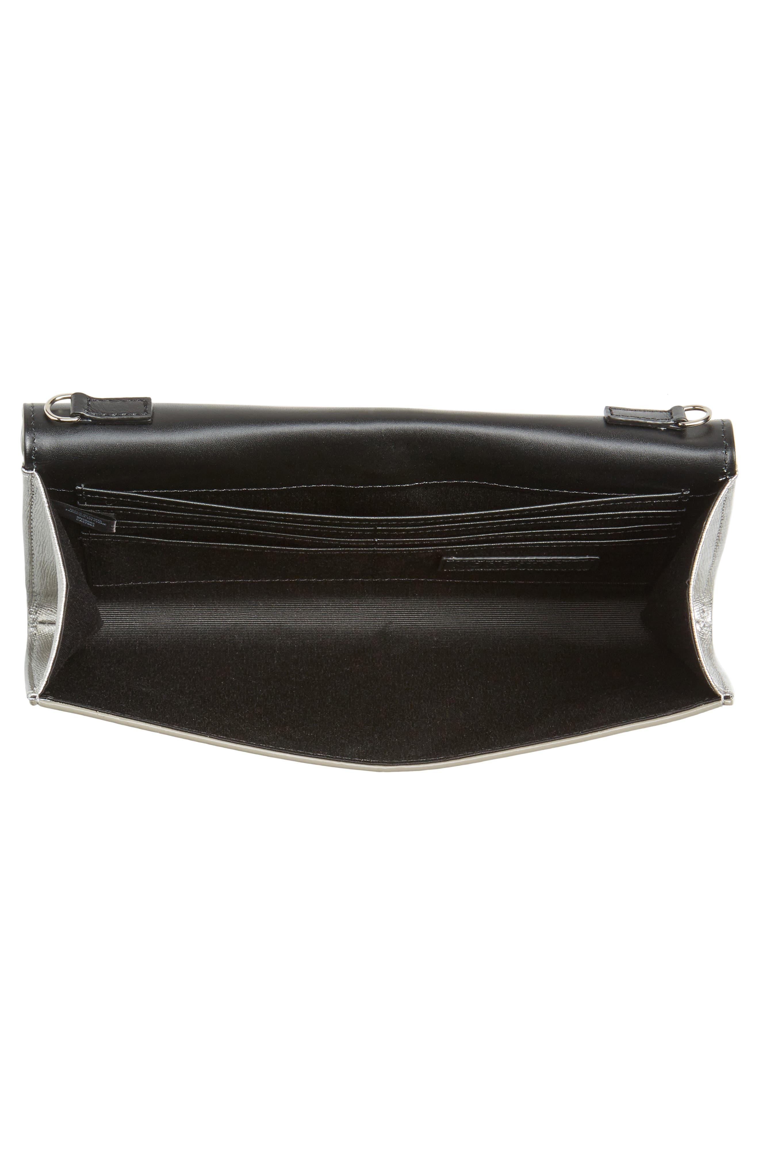 Alternate Image 4  - Nordstrom Leather Clutch