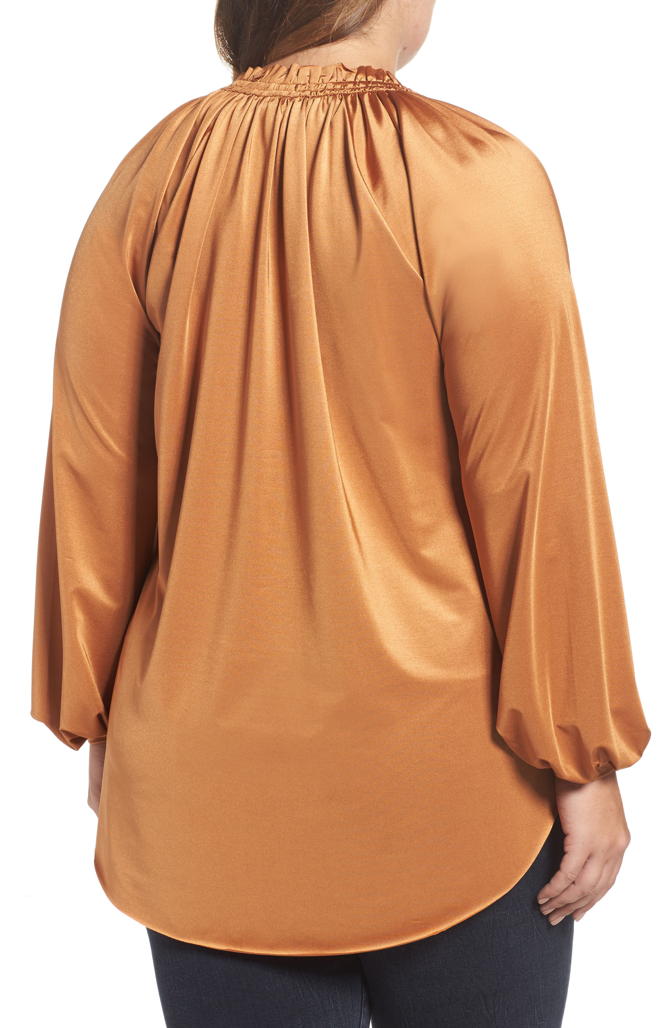 Alternate Image 2  - Melissa McCarthy Tie Neck Top (Plus Size)