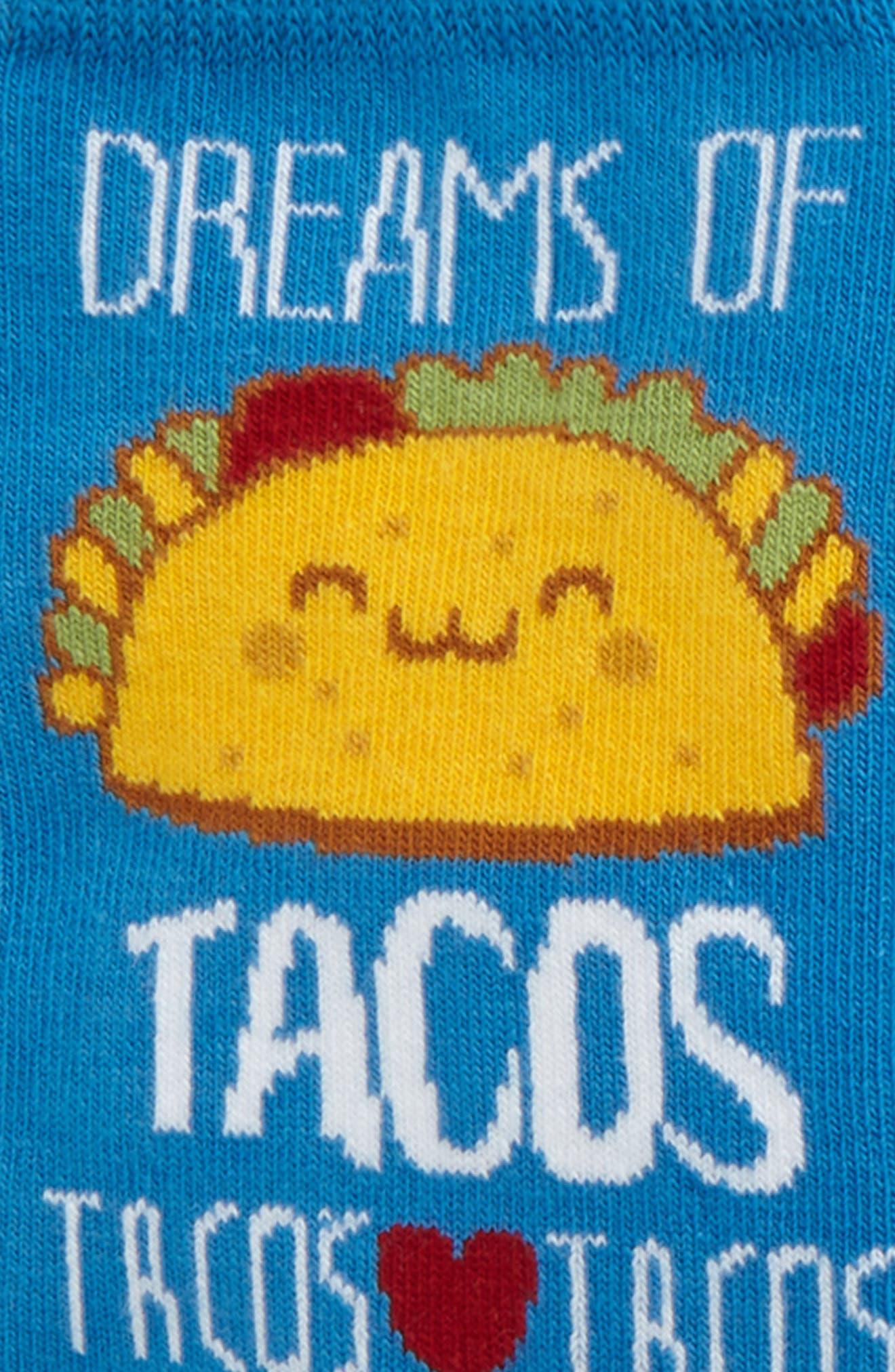 3-Pack Taco Dreams Crew Socks,                             Alternate thumbnail 2, color,                             Blue Cendre