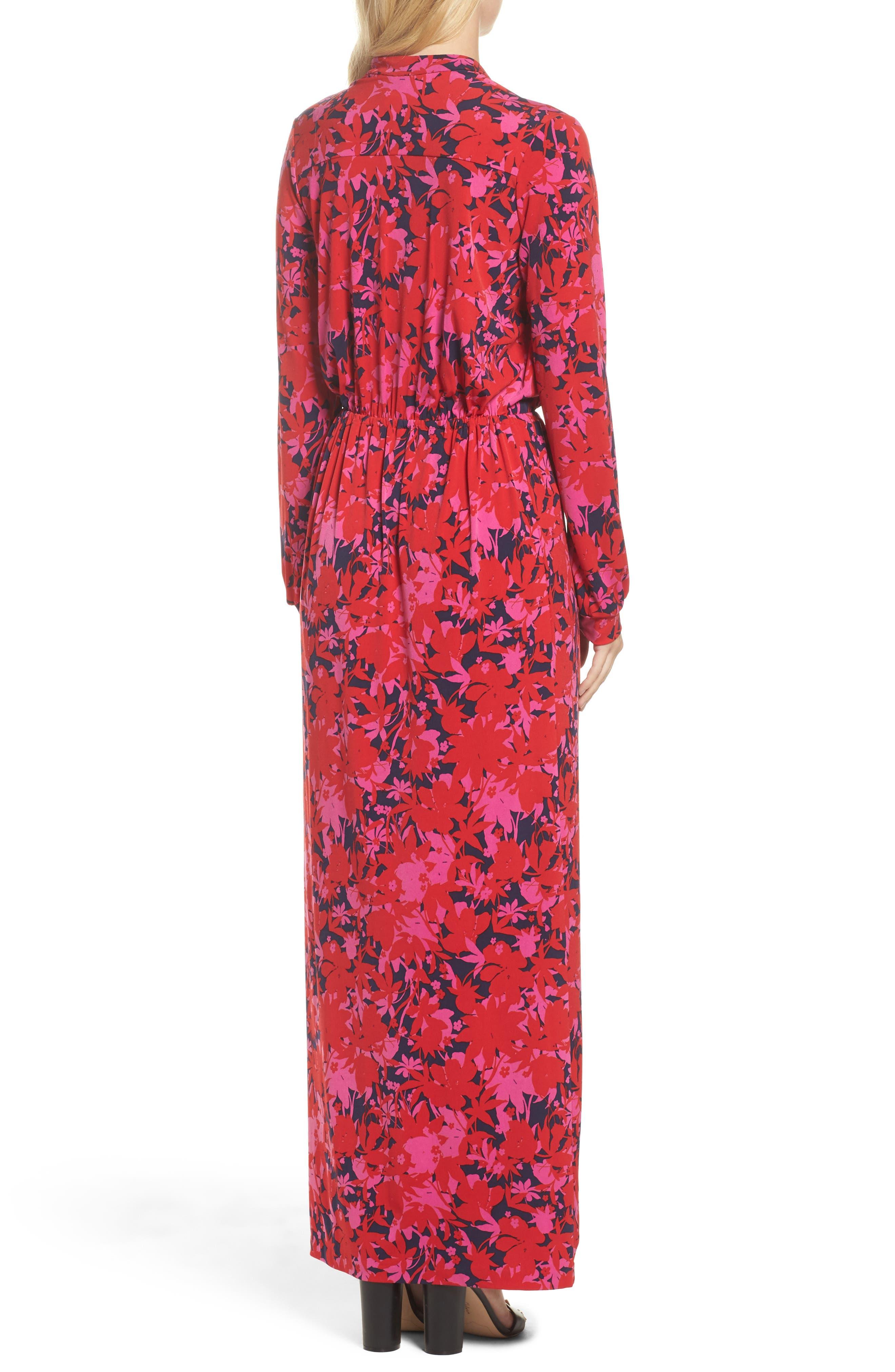 Bridget Faux Wrap Maxi Dress,                             Alternate thumbnail 3, color,                             Porte