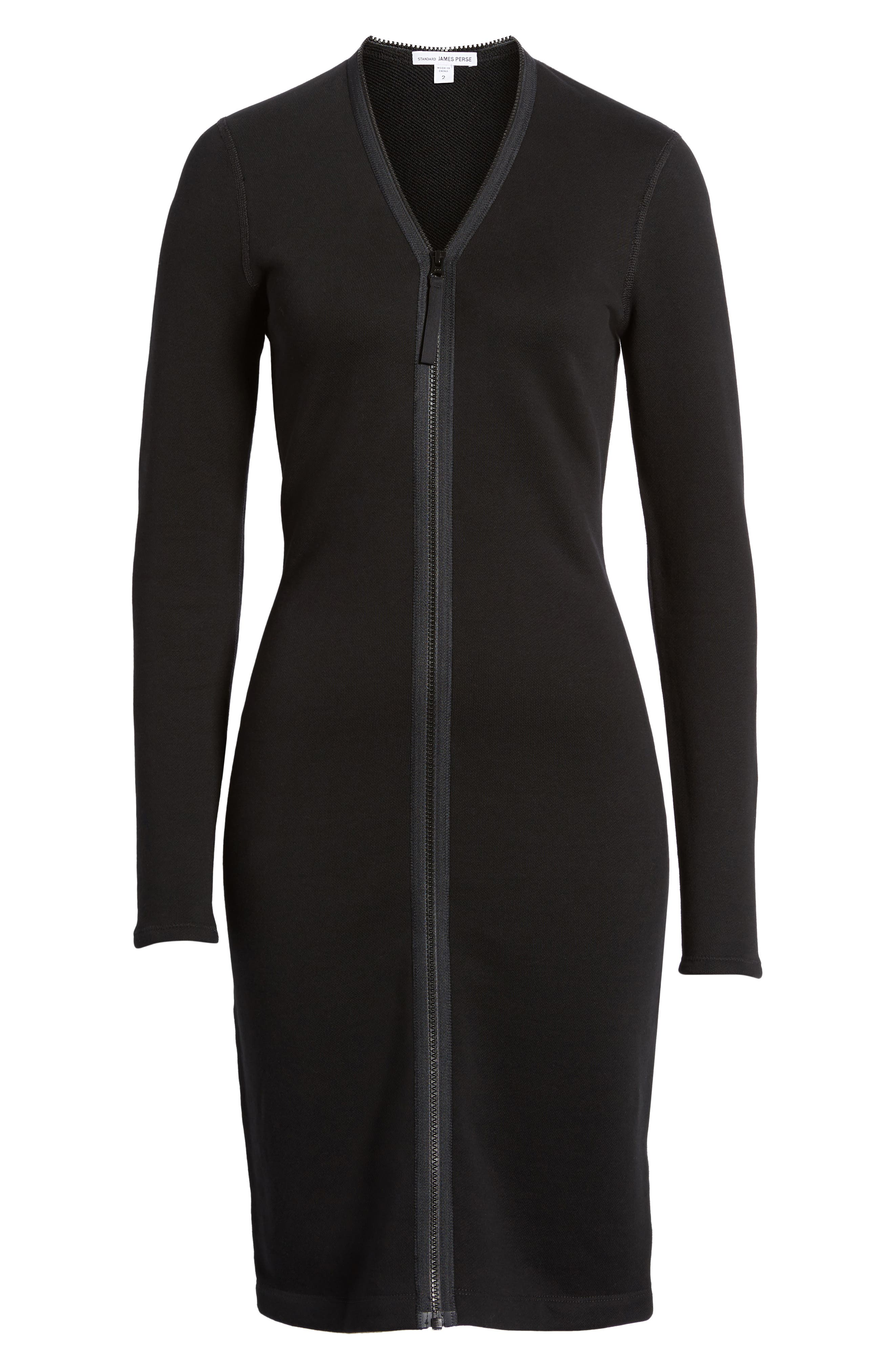 Alternate Image 6  - James Perse Zip Front Scuba Dress