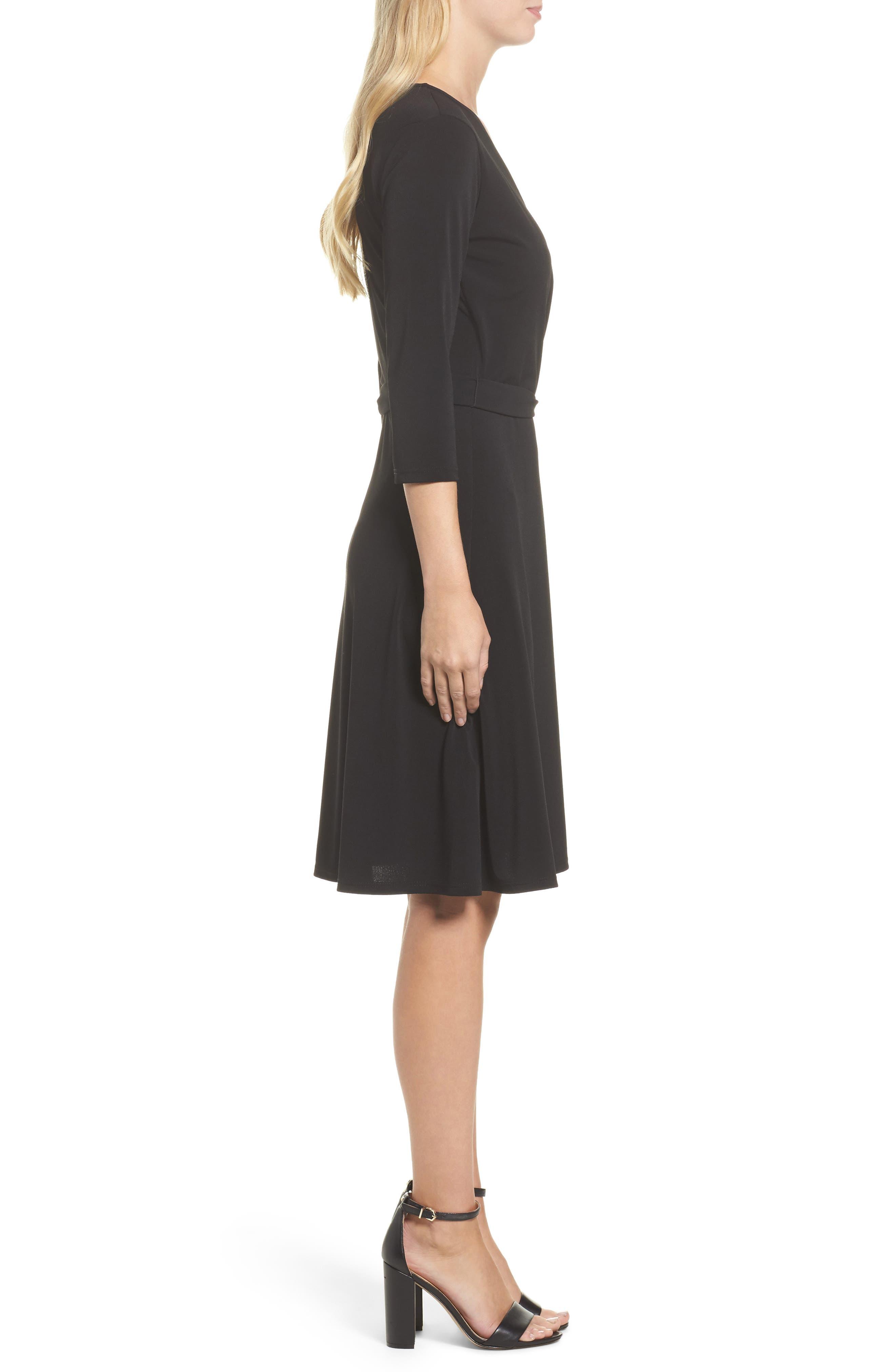 Alternate Image 3  - Leota Print Jersey Faux Wrap Dress