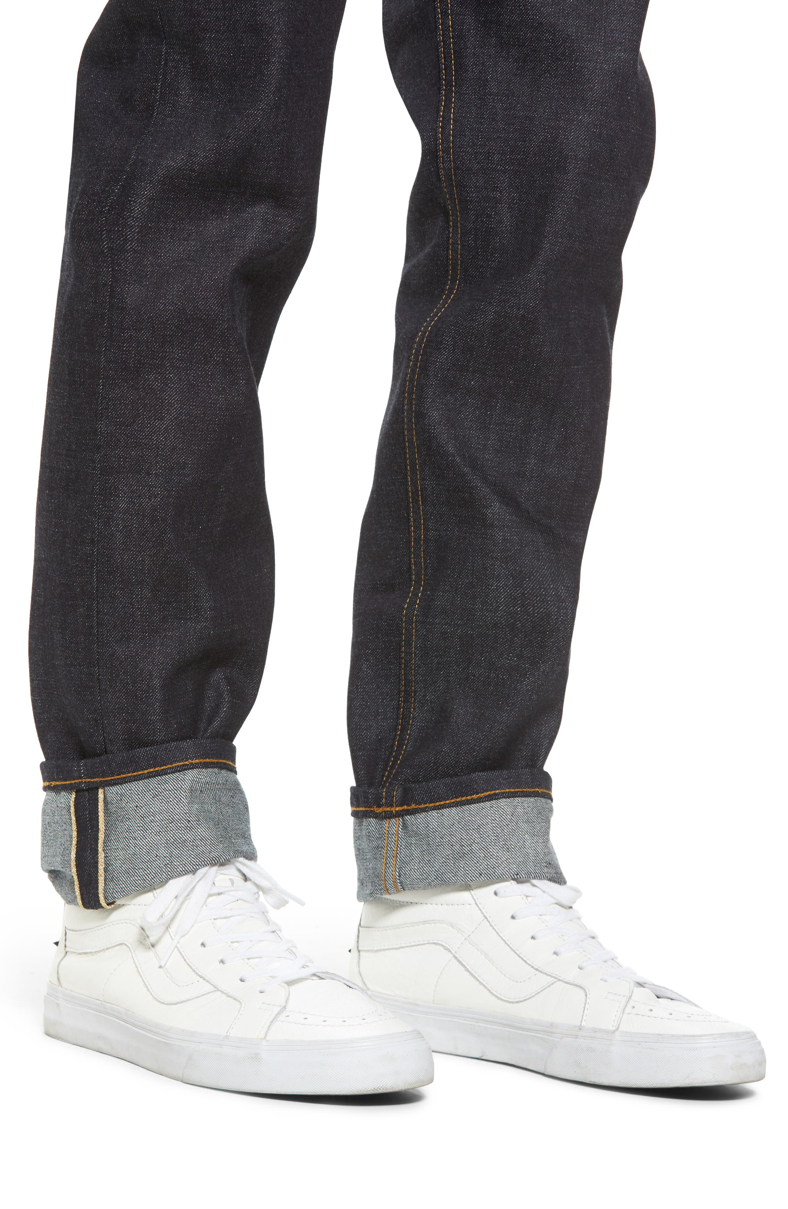 Alternate Image 4  - Naked & Famous Weird Guy Slim Fit Selvedge Jeans