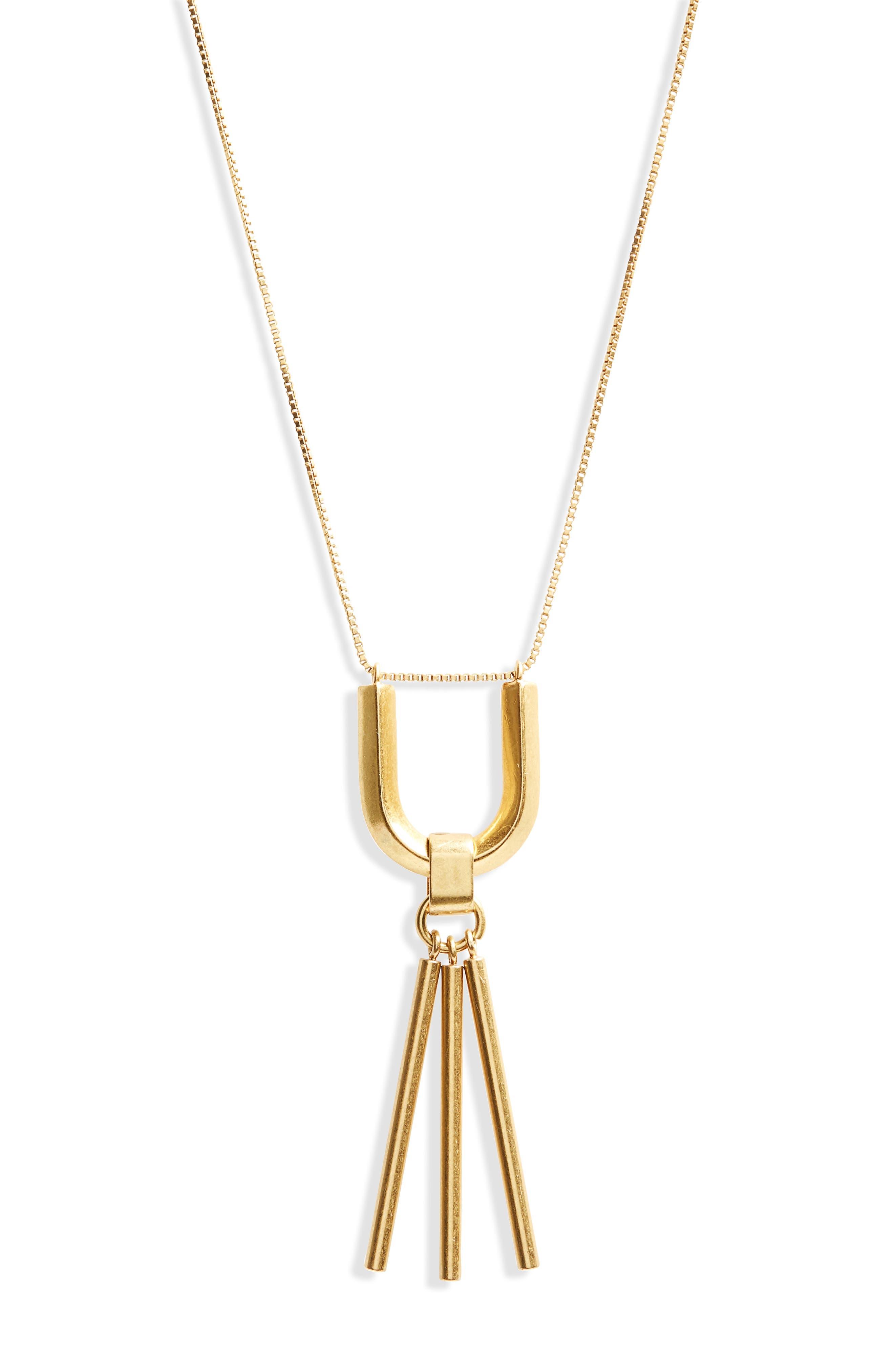 Curvelink Pendant Necklace,                             Alternate thumbnail 2, color,                             Gold Ox